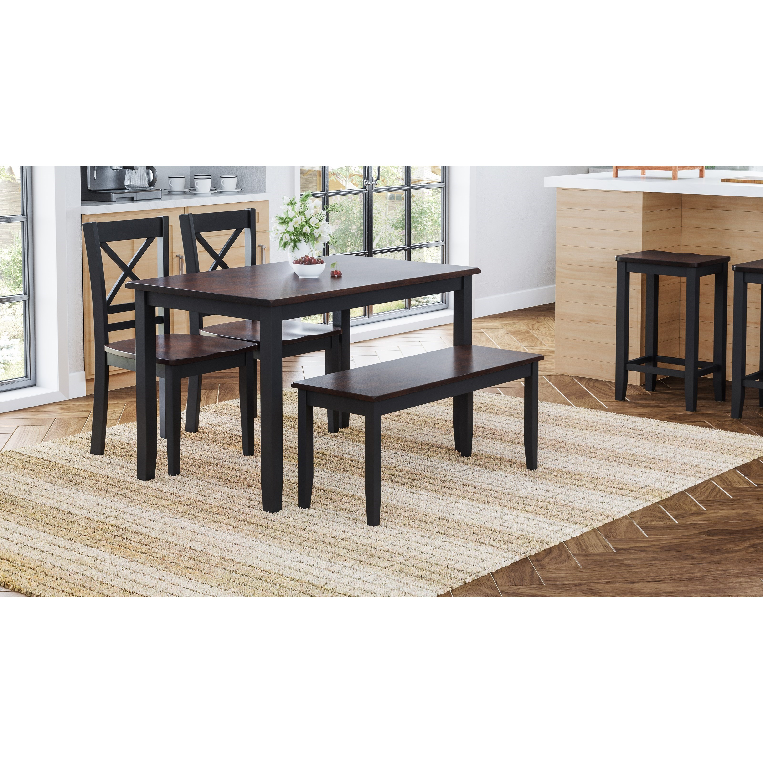 Asbury Park 4pk Dining by Jofran at Home Furnishings Direct