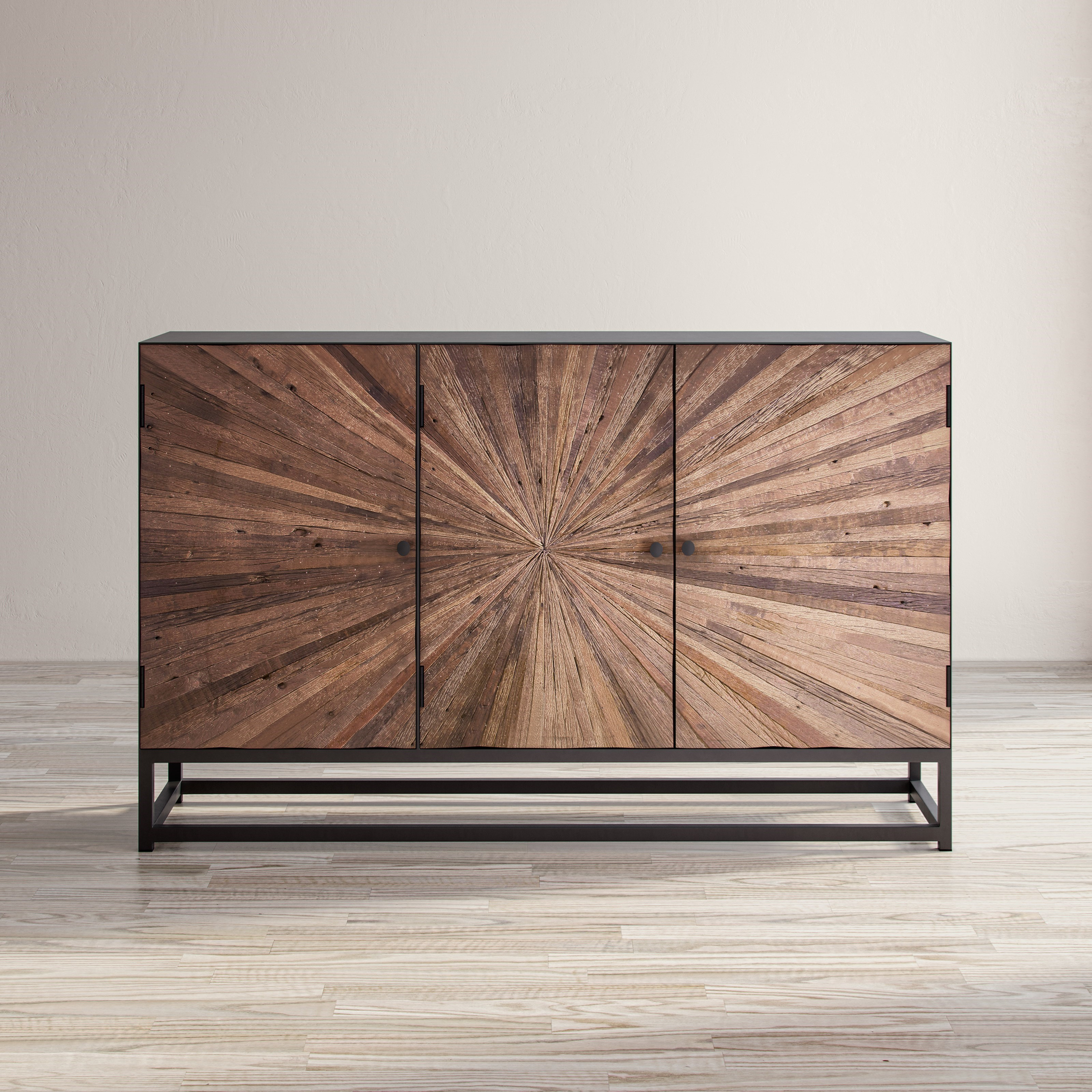 Astral Plains Reclaimed 3 Door Accent Cabinet by VFM Signature at Virginia Furniture Market