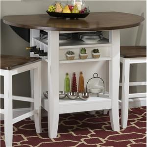 "48"" Round Counter Height Table with Drop-Down Leaf"