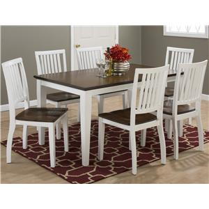 Rectangular 6 Person Dining Table and Chair Set