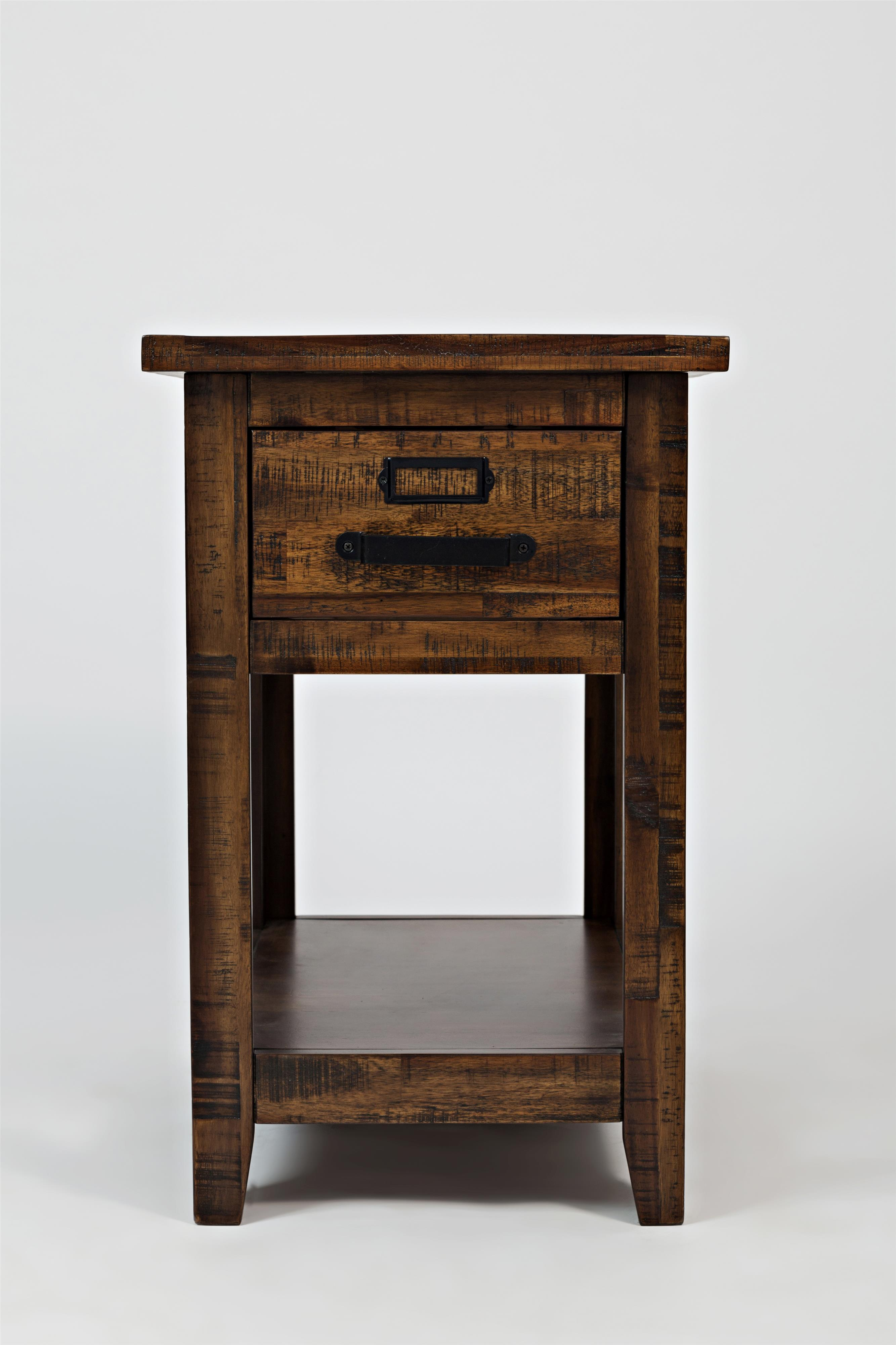 Cannon Valley One Drawer Chairside Table by Jofran at Jofran