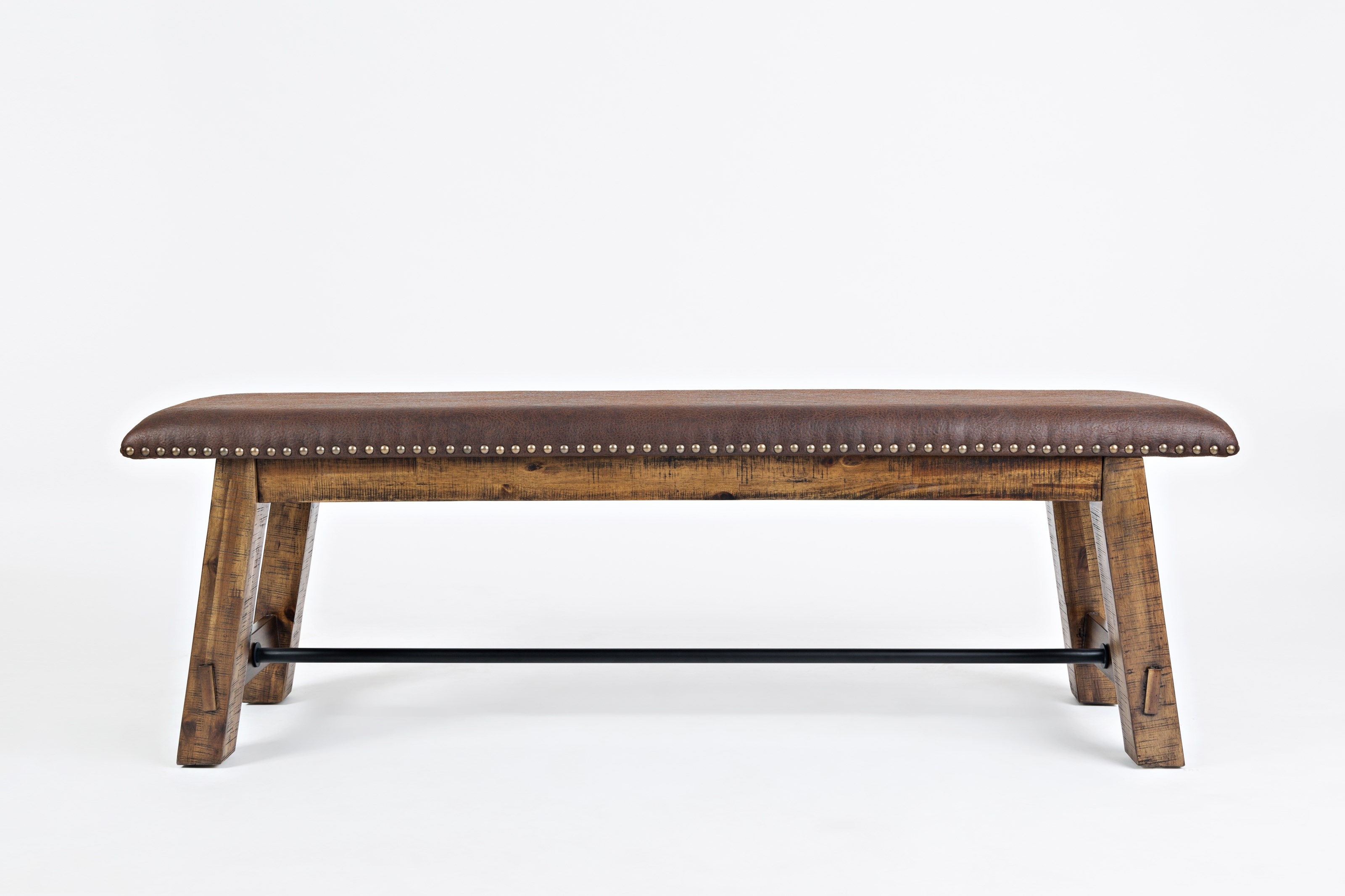 Cannon Valley Bench with Upholstered Seat by Jofran at Stoney Creek Furniture