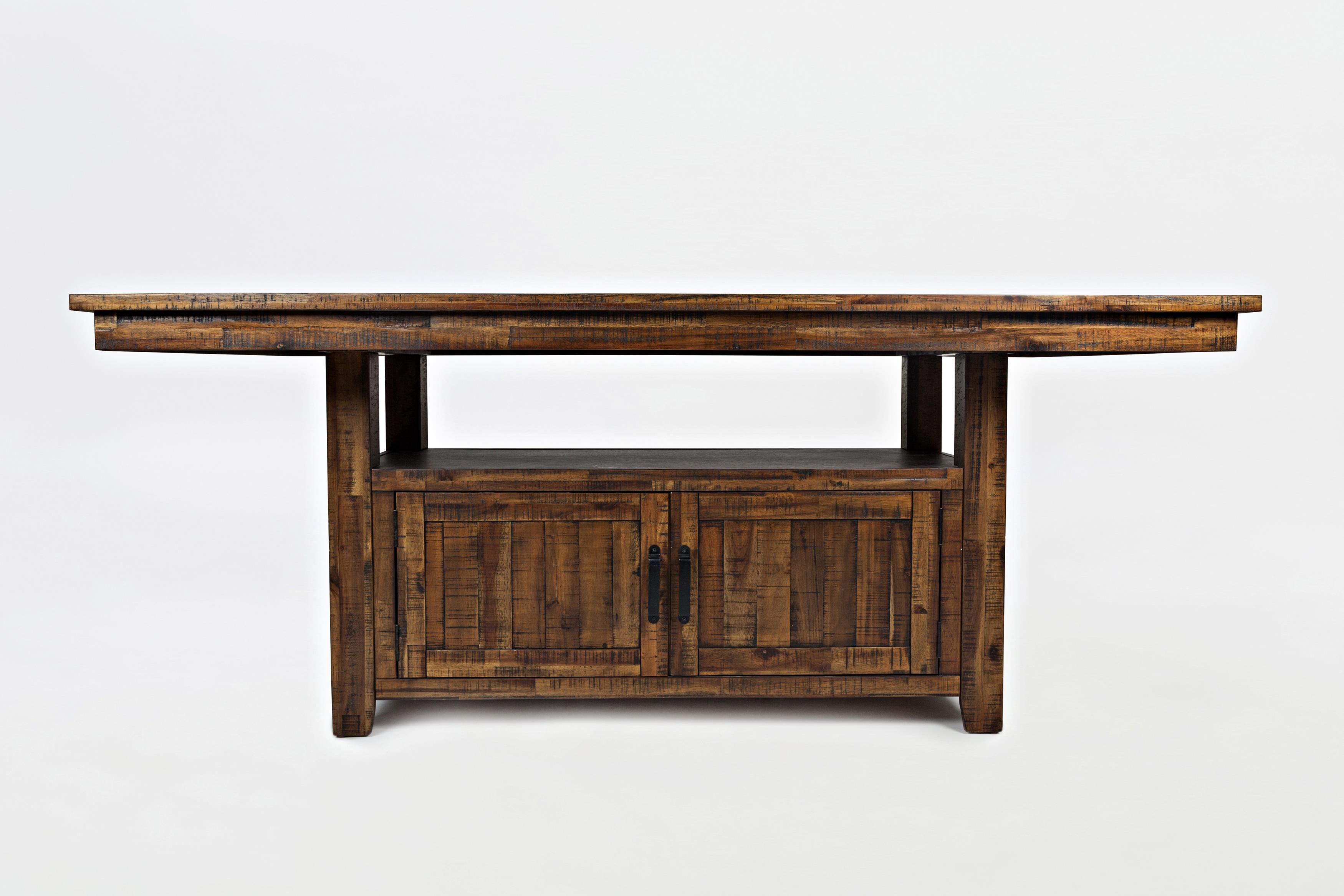 Cannon Valley High/Low Table with Storage Base by Jofran at Beck's Furniture