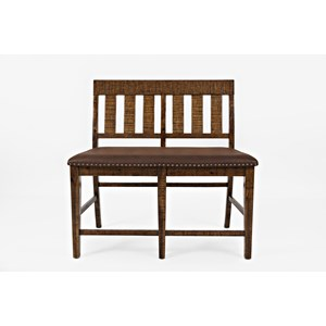 Jofran Cannon Valley Counter Height Bench