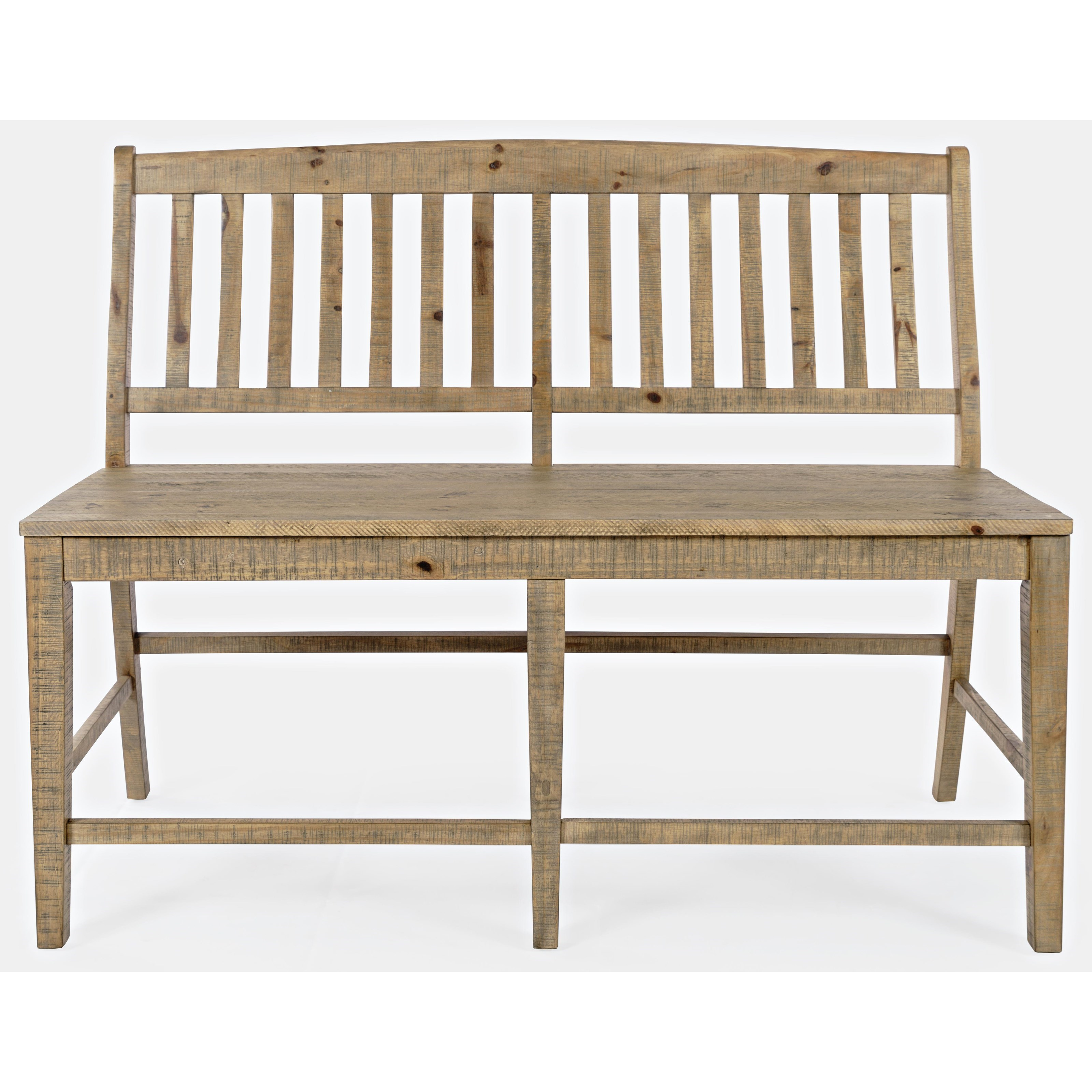 Carlyle Crossing Slatback Counter Bench by VFM Signature at Virginia Furniture Market