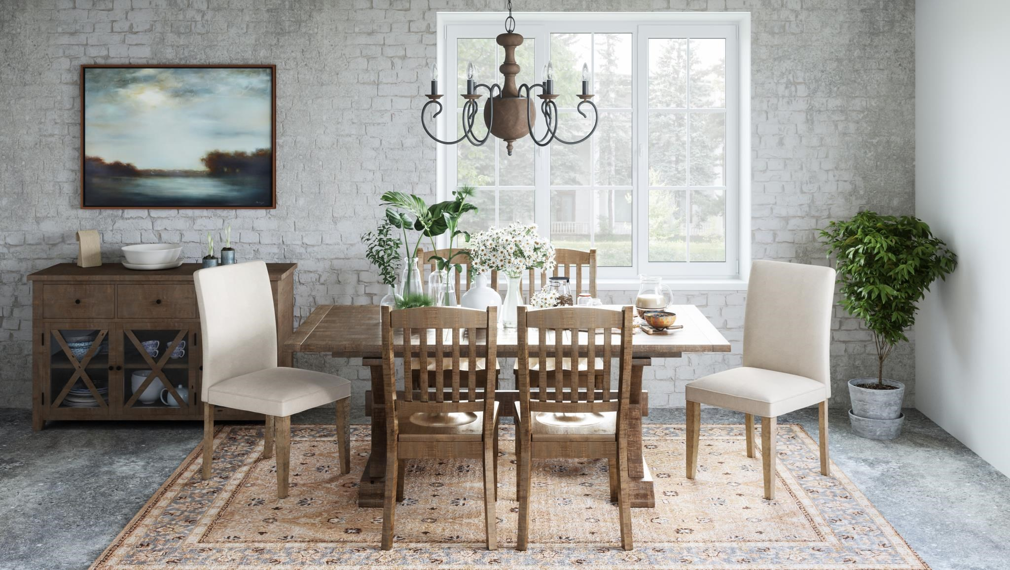 Carlyle Crossing 5 Piece Dining Set by Jofran at Darvin Furniture