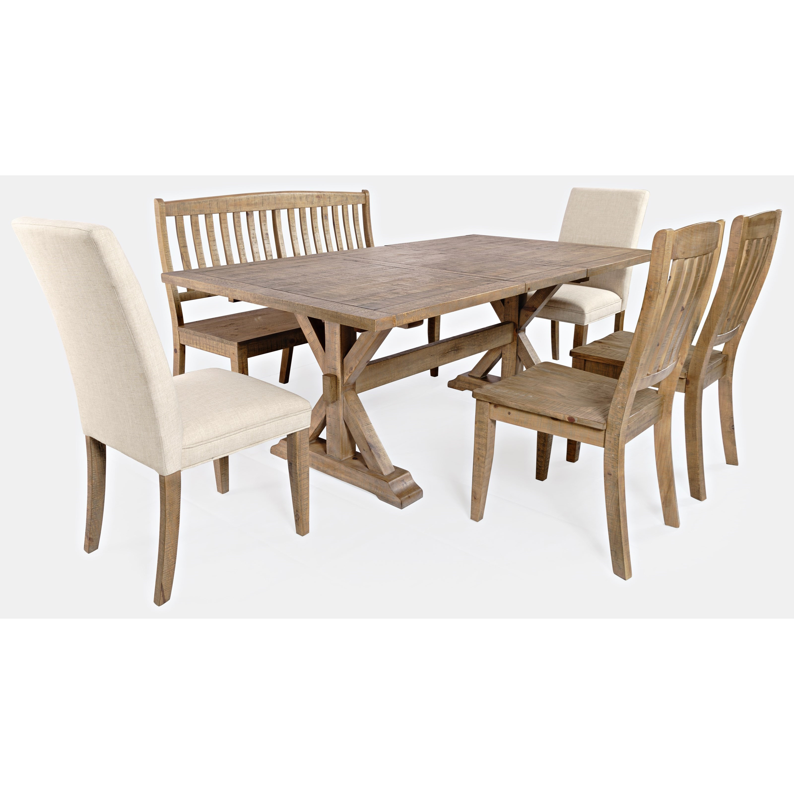 Carlyle Crossing 6-Piece Dining Table and Chair Set by VFM Signature at Virginia Furniture Market