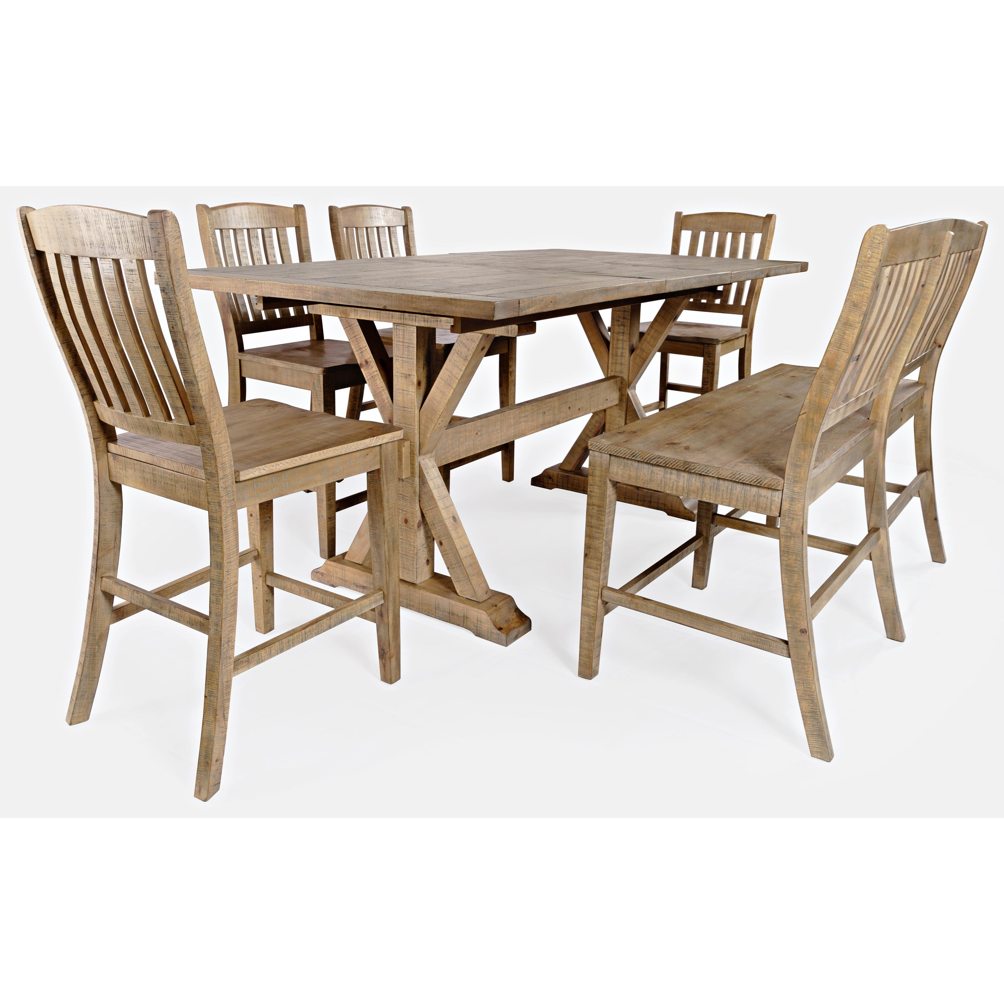 Carlyle Crossing 6-Piece Counter Table and Chair Set by Jo Furniture Co. at Ruby Gordon Home