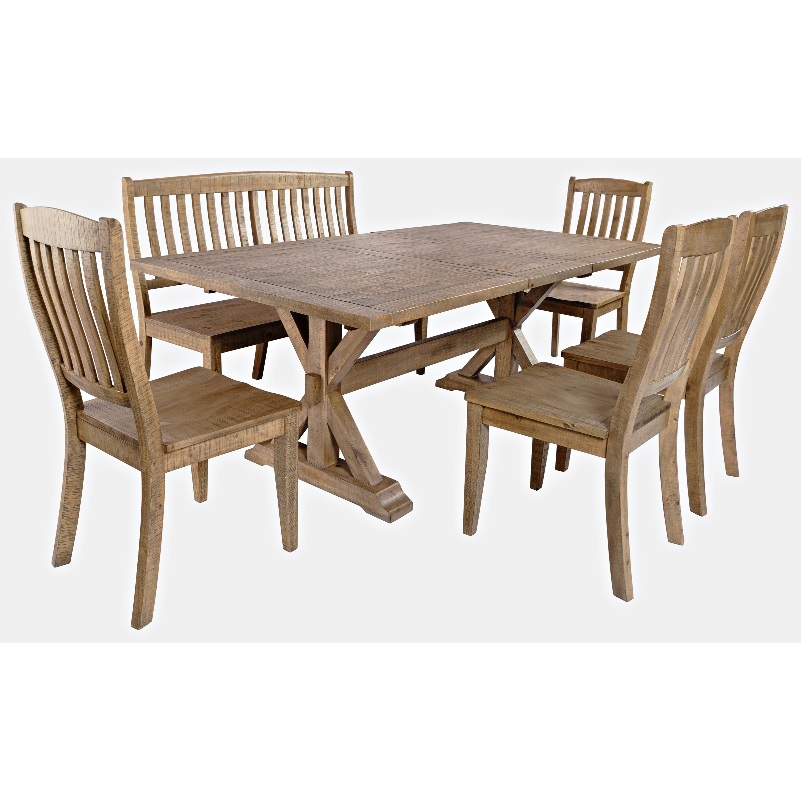 Carlyle Crossing 6-Piece Dining Table and Chair Set by Jofran at Jofran