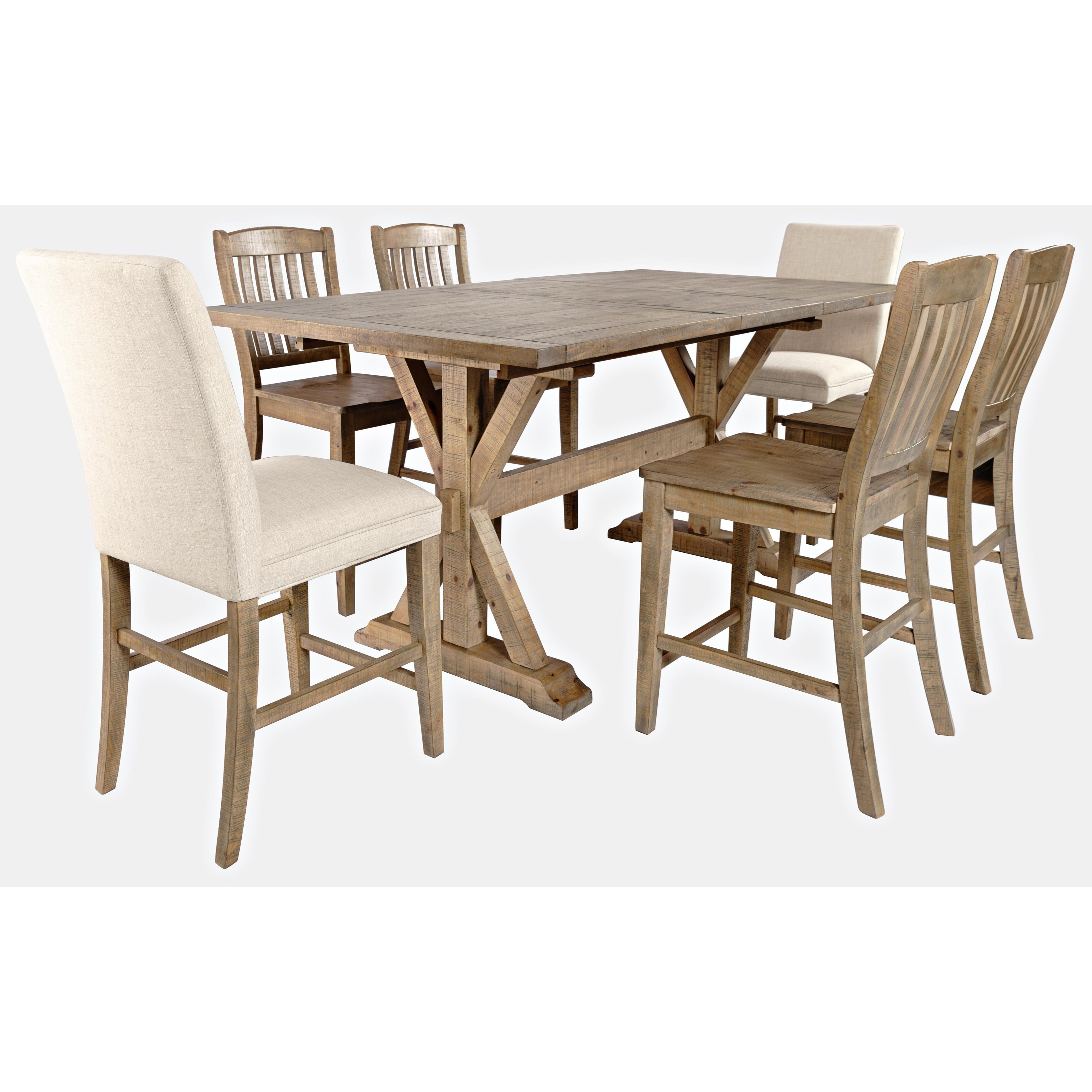 Carlyle Crossing 7-Piece Counter Table and Chair Set by Jofran at Jofran