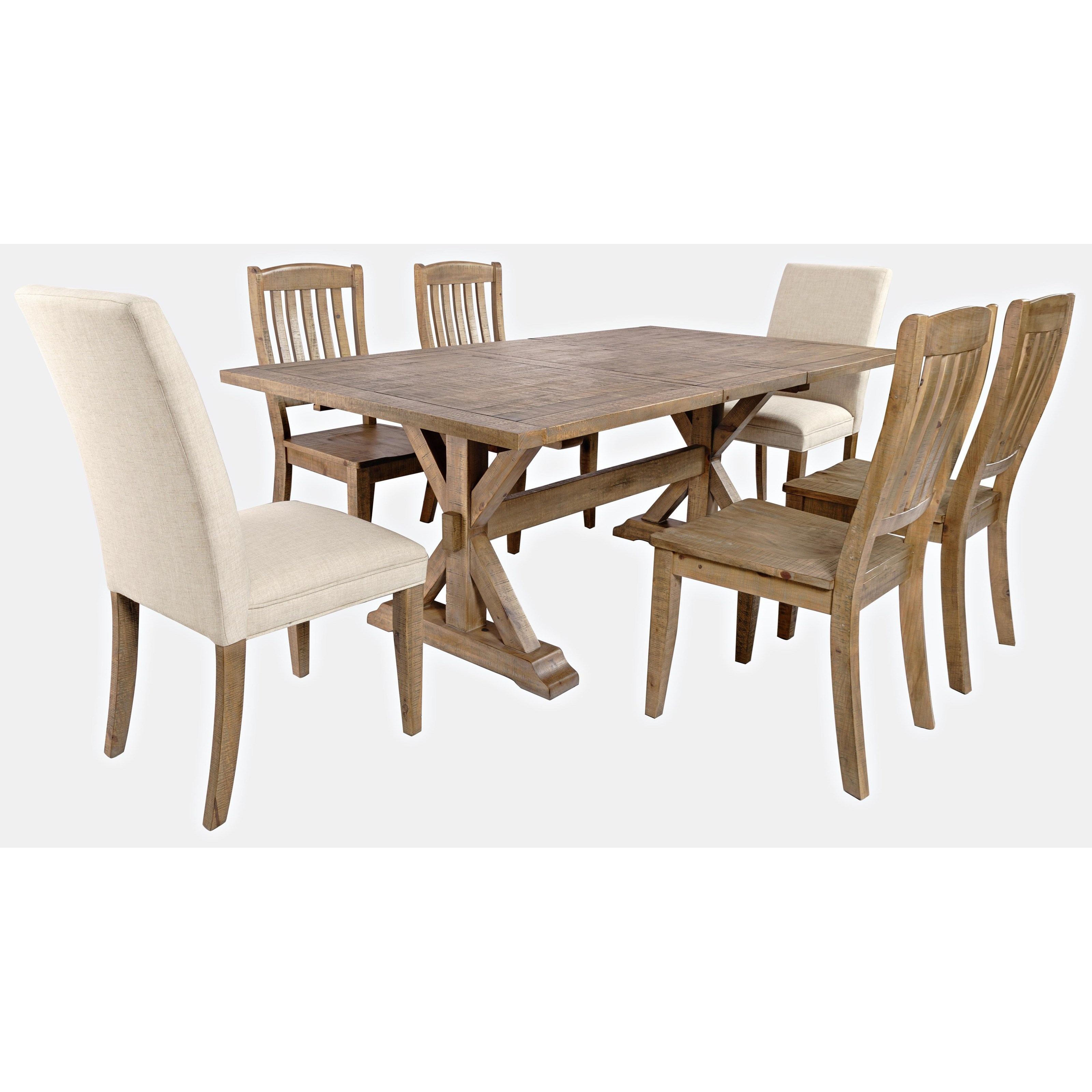 Carlyle Crossing 7-Piece Dining Table and Chair Set by Jofran at Simply Home by Lindy's