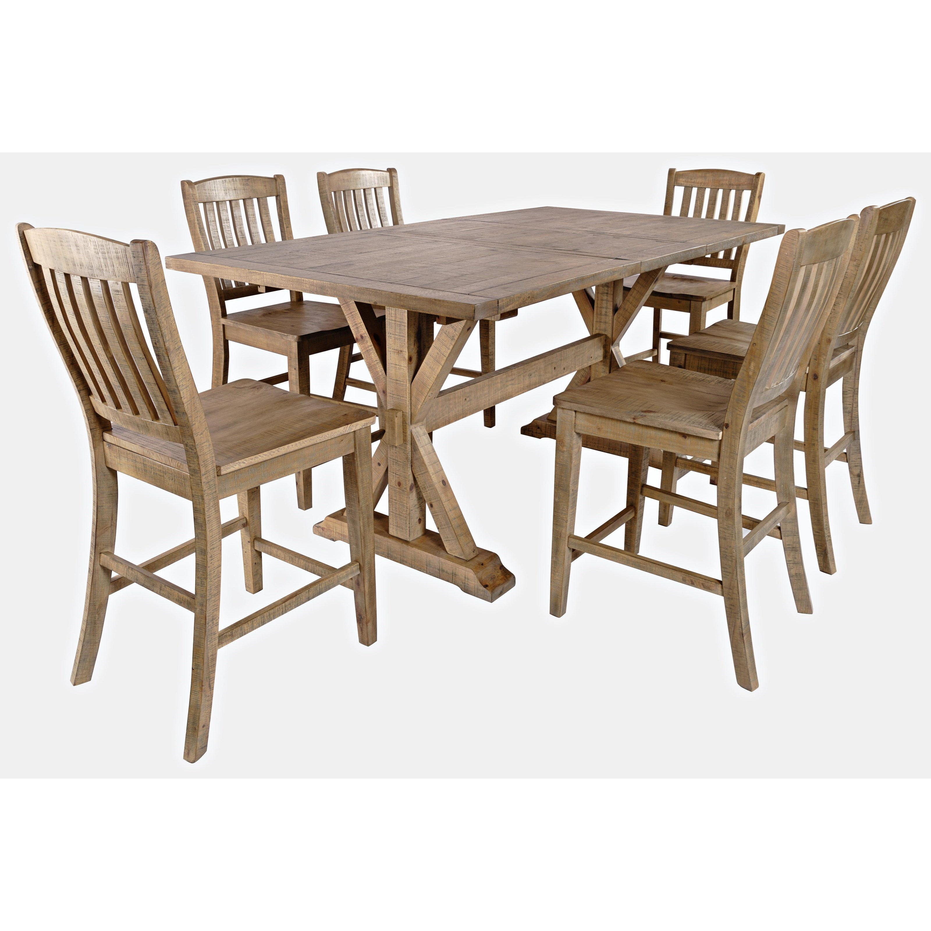 Carlyle Crossing 7-Piece Counter Table and Chair Set by VFM Signature at Virginia Furniture Market