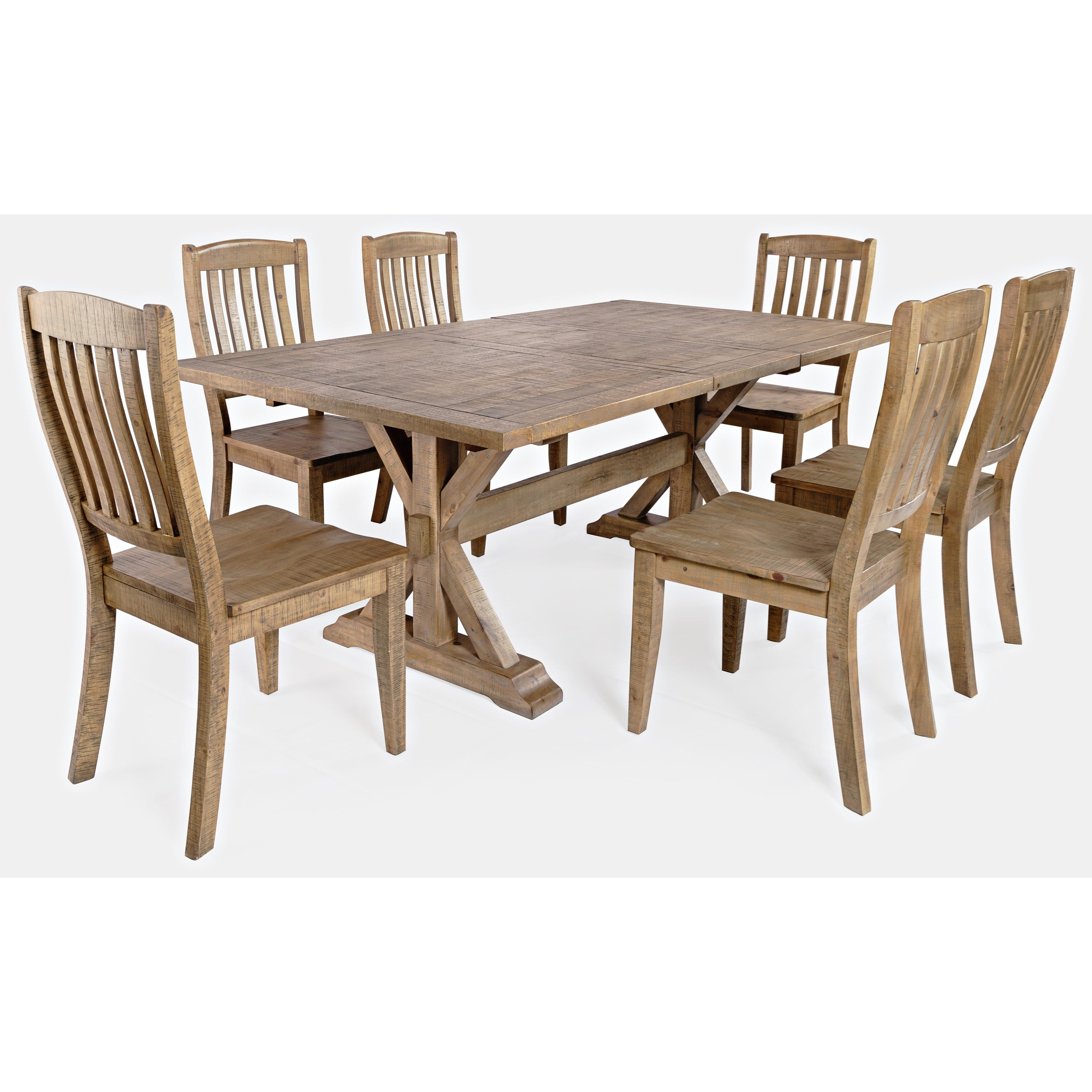 Carlyle Crossing 7-Piece Dining table and Chair Set by Jofran at Zak's Home