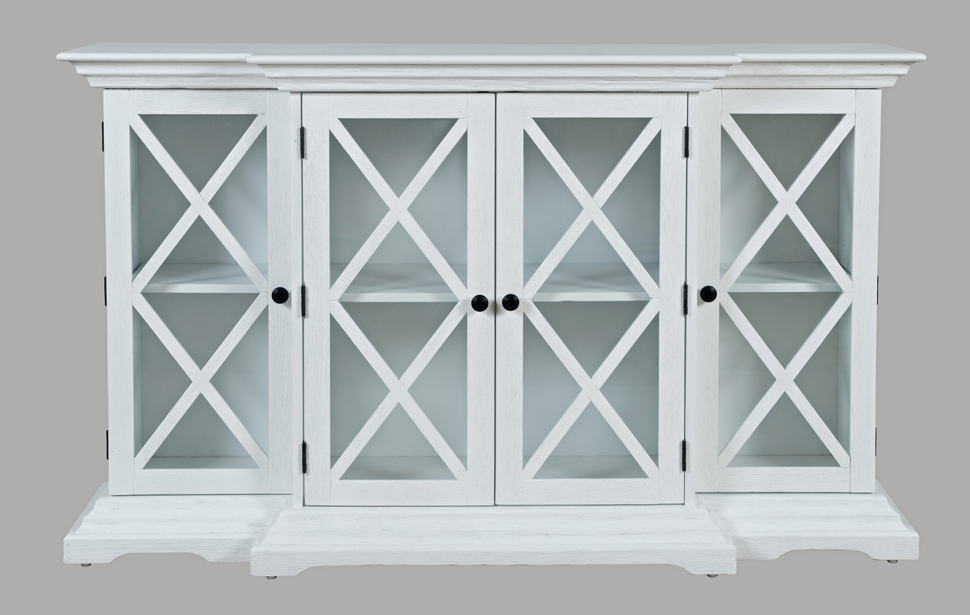 Carrington Small Breakfront Cabinet by Jofran at Jofran