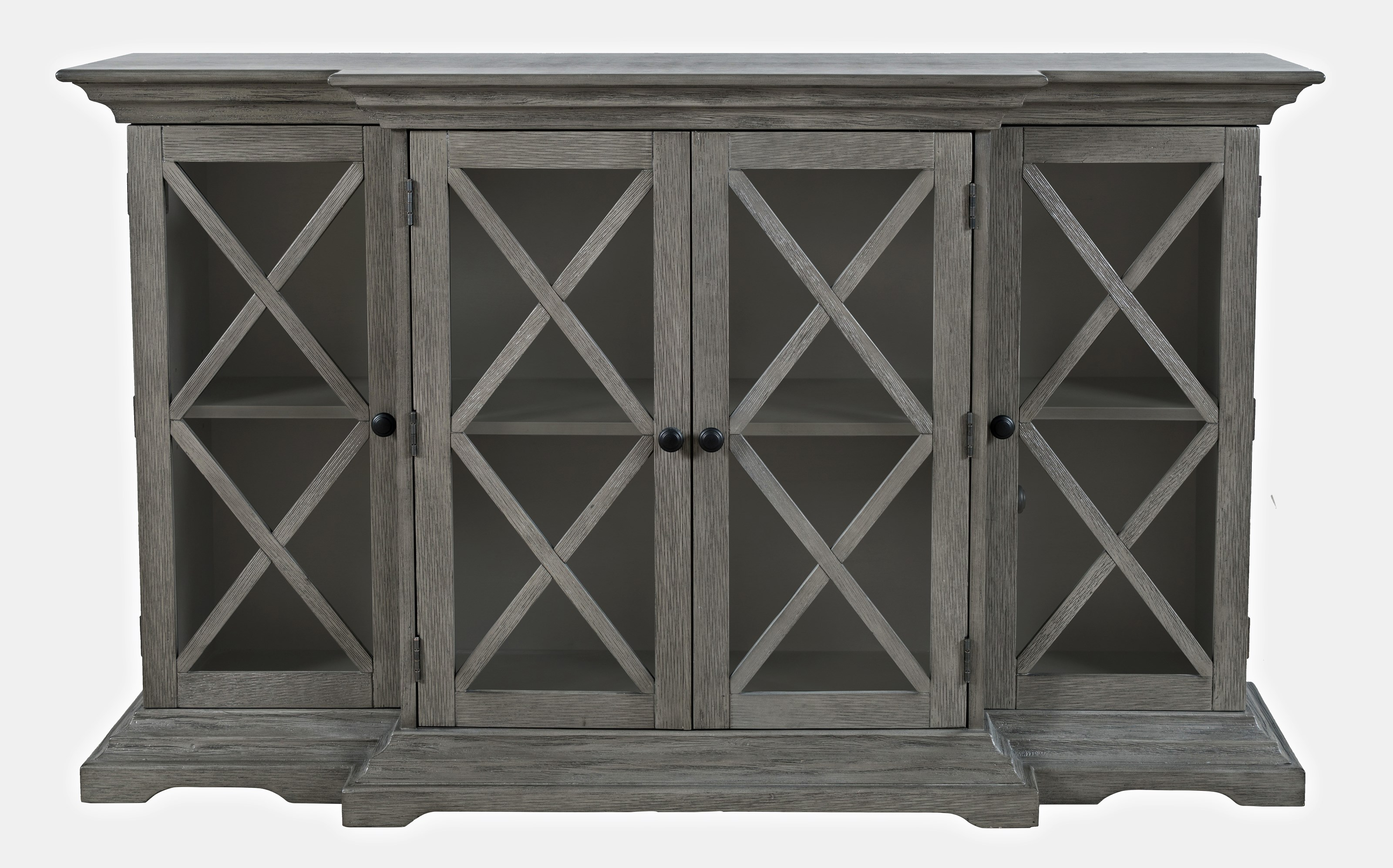 Carrington Small Breakfront Cabinet by Jofran at Zak's Home