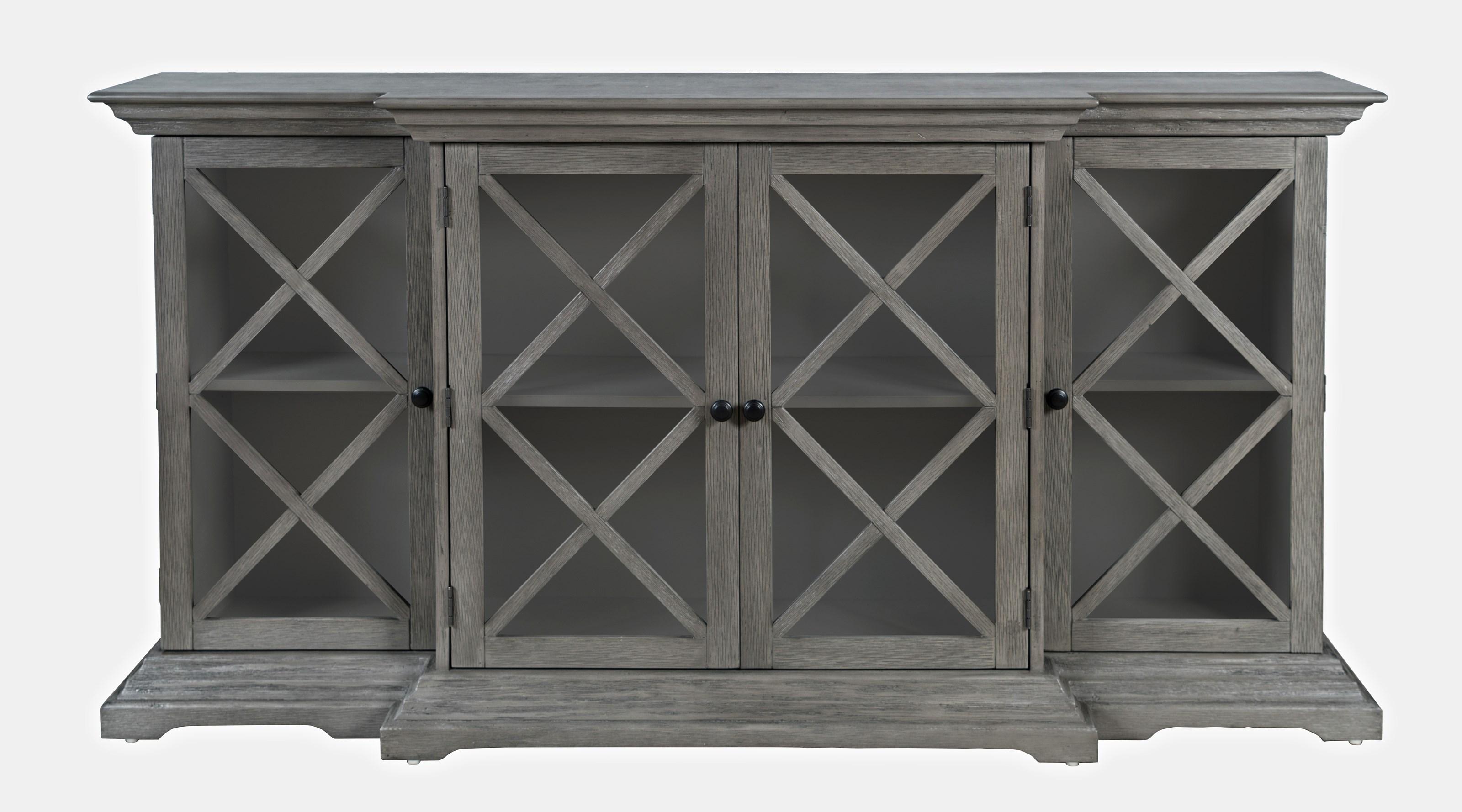 Carrington Large Breakfront Cabinet by Jofran at Jofran
