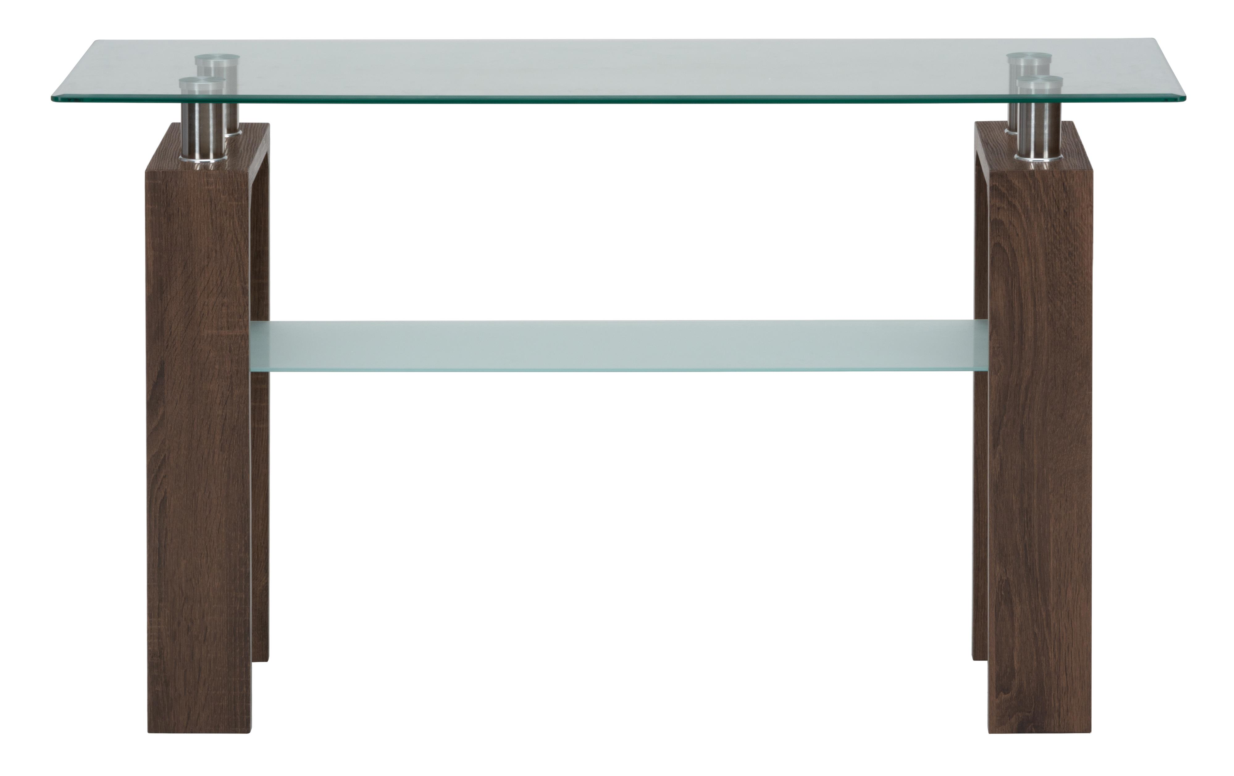 Compass Sofa Table with  Glass Top by Jofran at Beck's Furniture