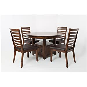 "Jofran Coolidge Corner 48"" Round High/Low Table and Chair Set"