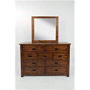 Jofran Coolidge Corner 9 Drawer Dresser and Mirror
