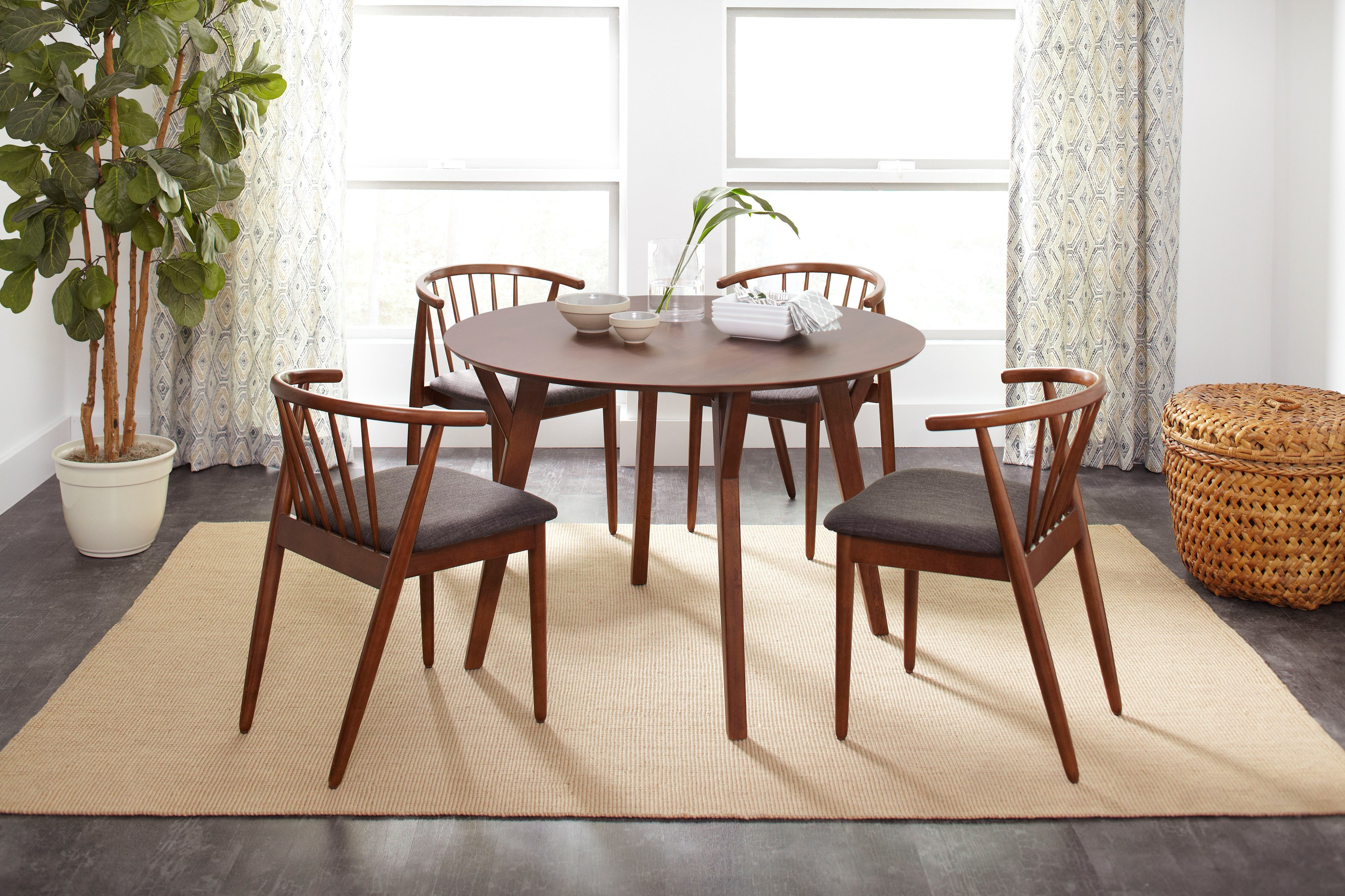 Copenhagen Round Dining Table and Chair Set by Jofran at Jofran