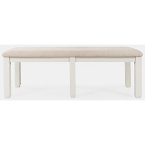 Transitional Upholstered Dining Bench