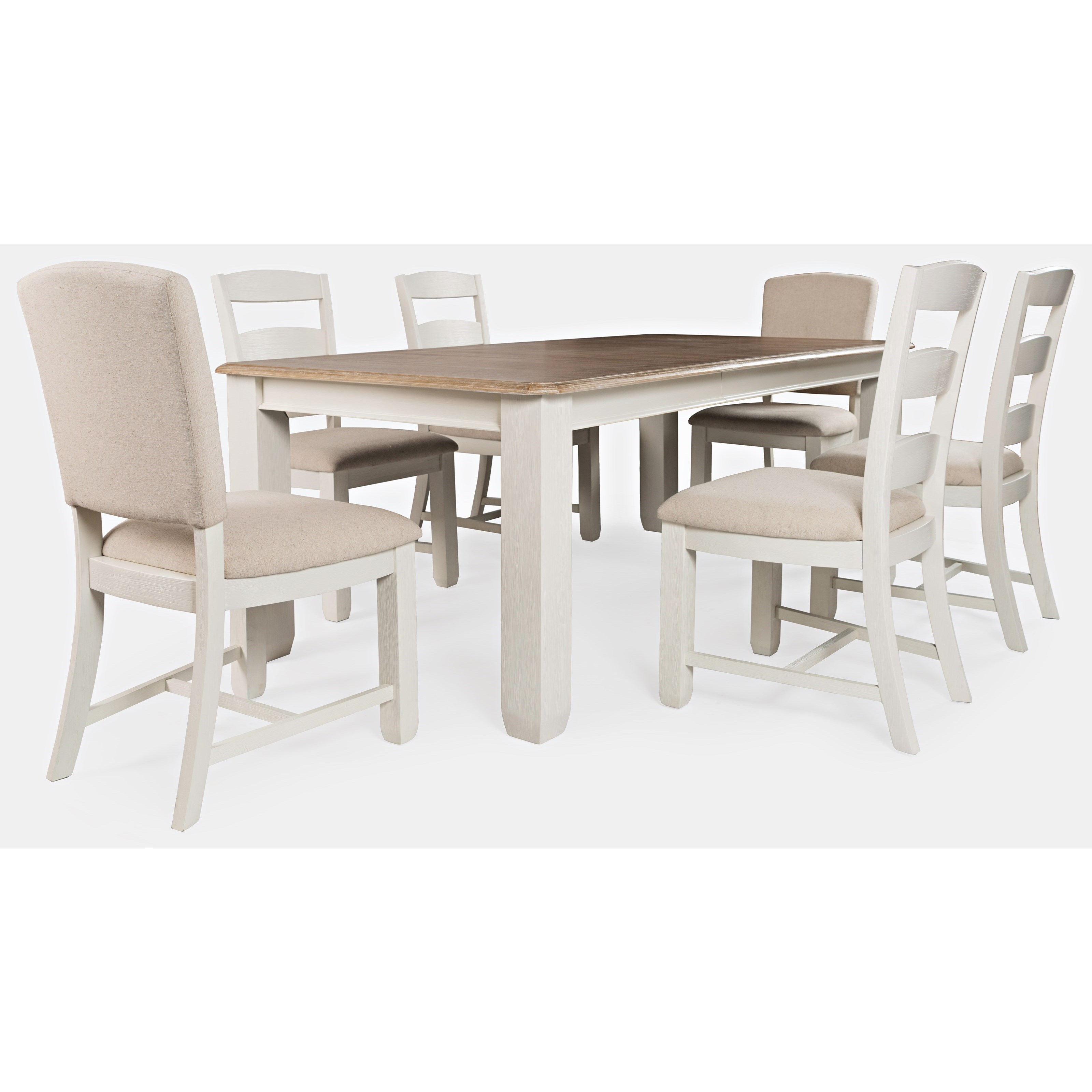 Dana Point 7-Piece Table and Chair Set by Jofran at Jofran