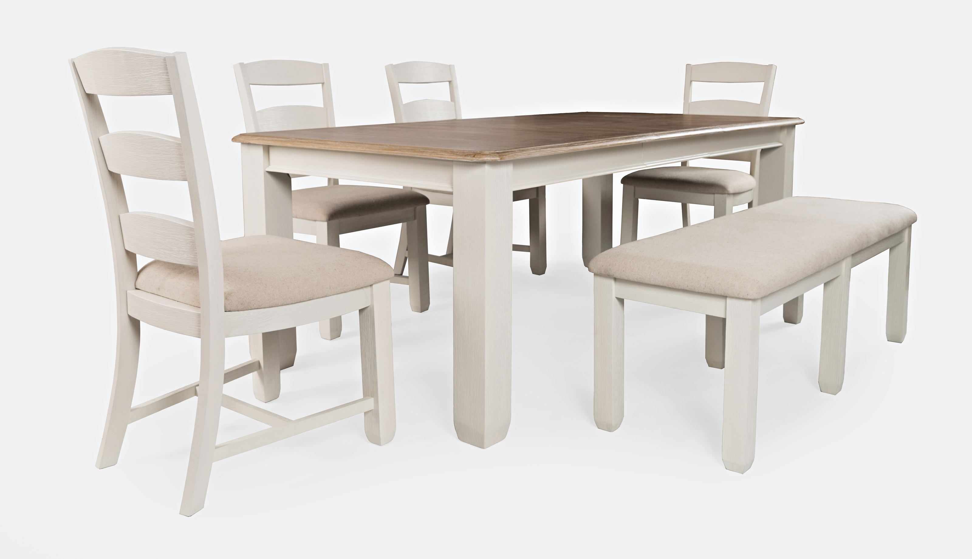 Dana Point 6-Piece Table and Chair Set with Bench by Jofran at Jofran