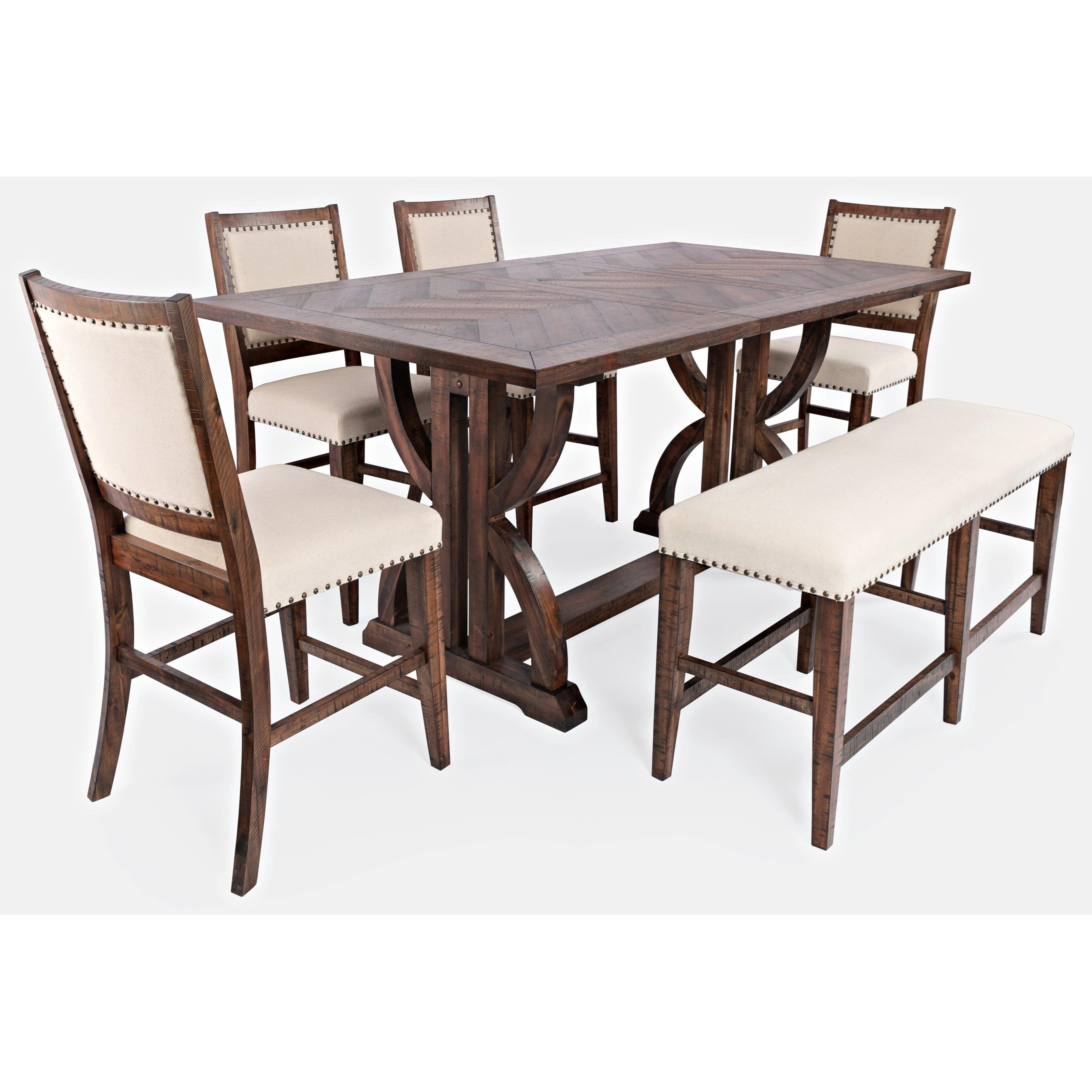 Fairview 6-Piece Counter Table and Chair Set by Jofran at Stuckey Furniture