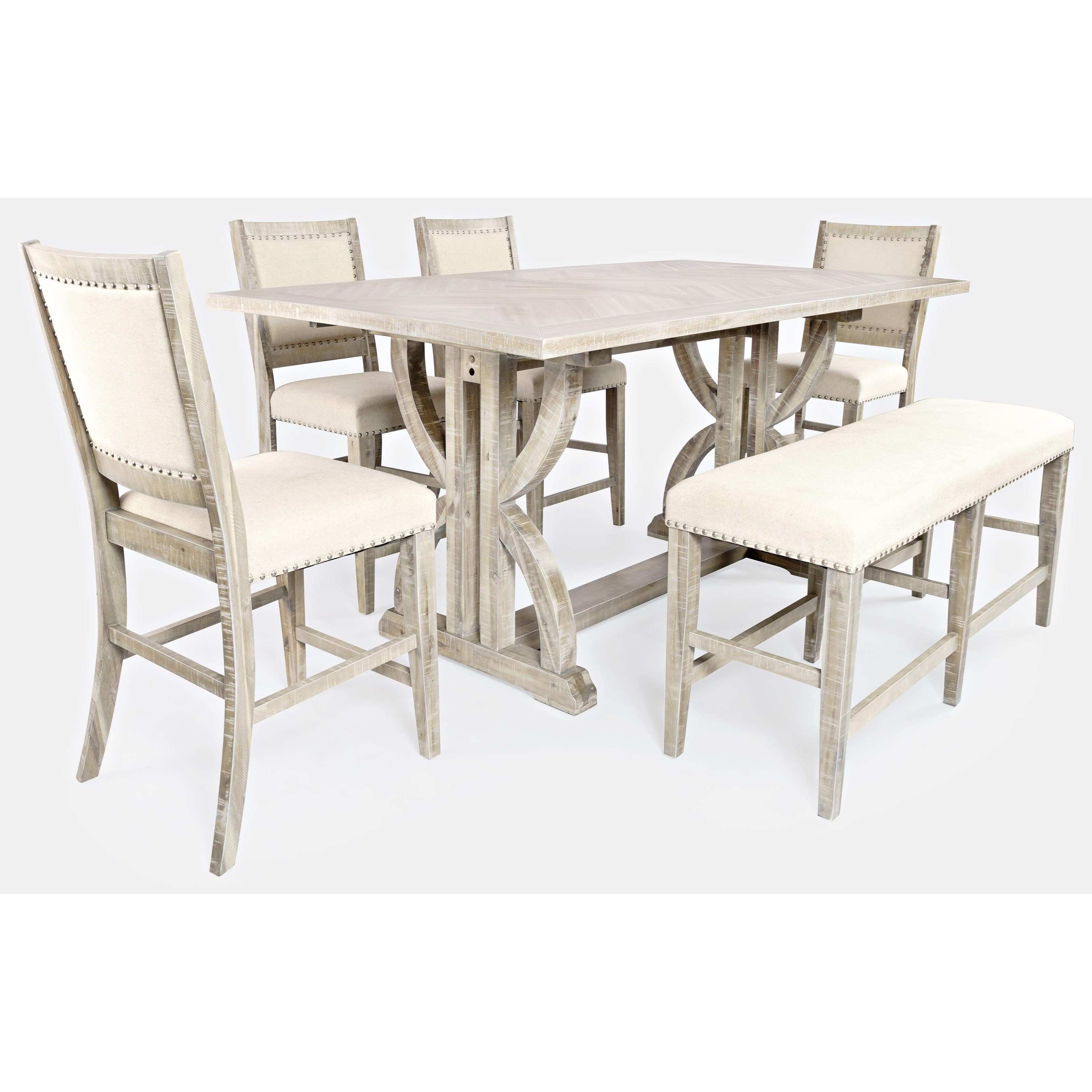 Fairview 6-Piece Counter Table and Chair Set by Jofran at Jofran