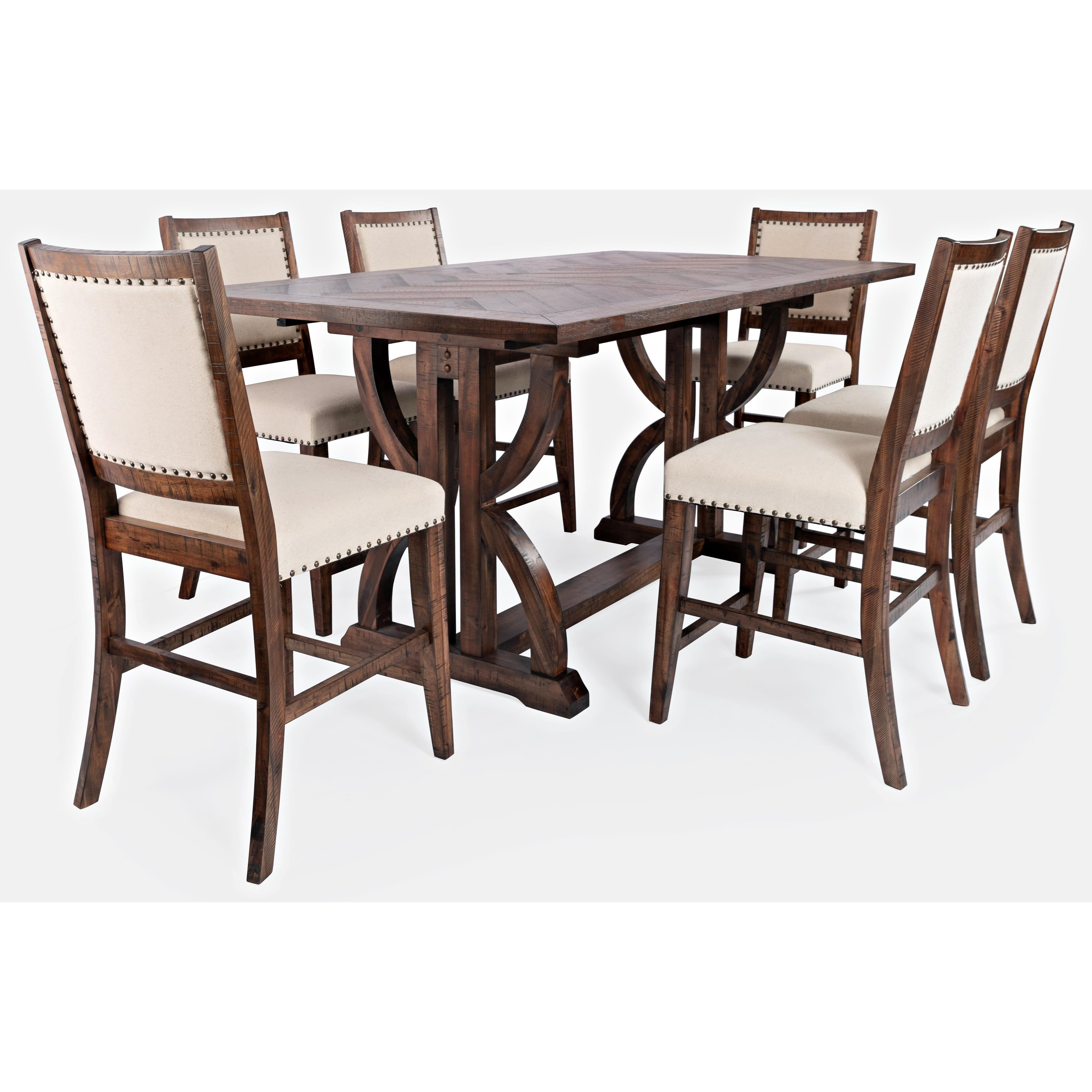 Fairview 7-Piece Counter Table and Chair Set by Jofran at Jofran
