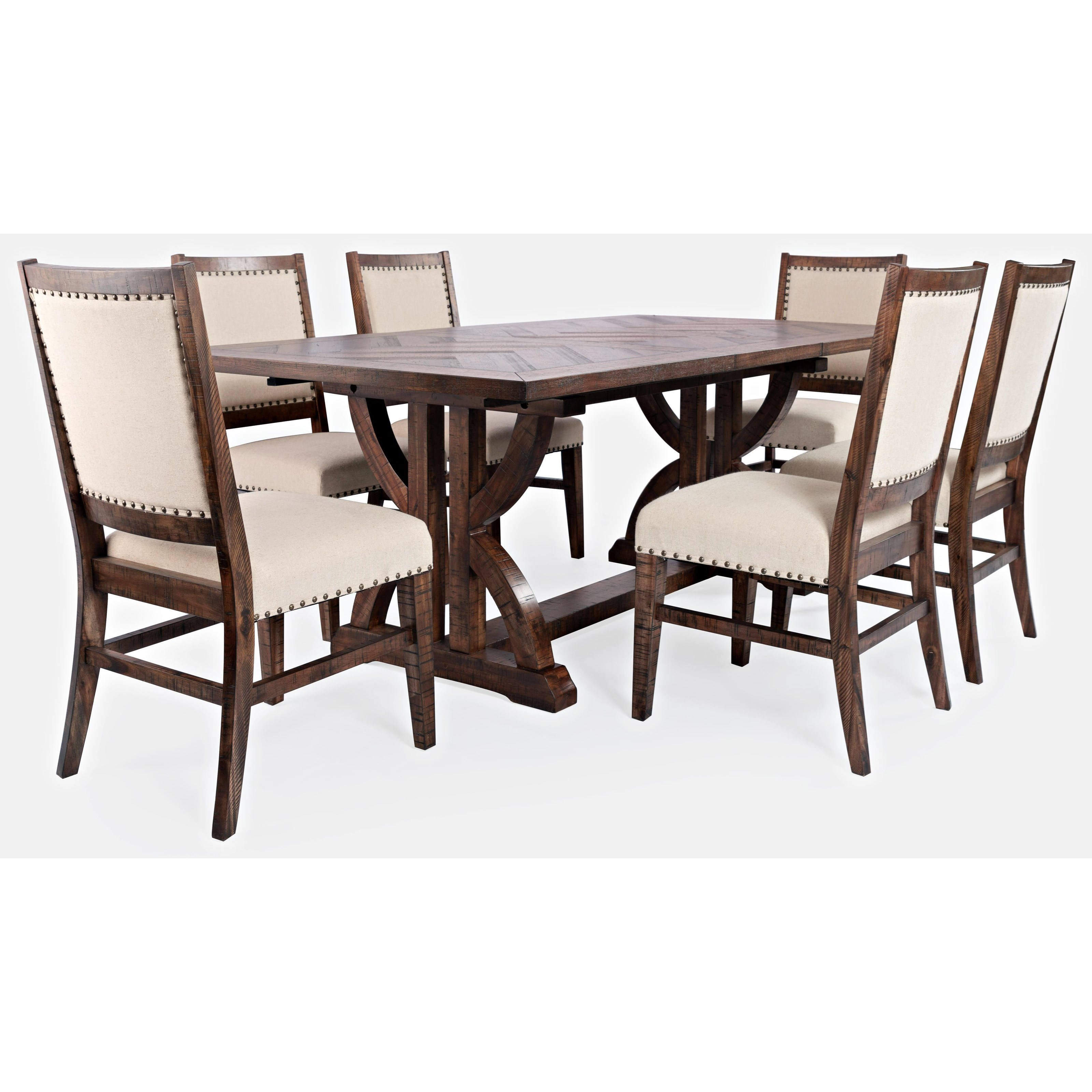 Fairview 7-Piece Dining Table and Chair Set by Jofran at Jofran