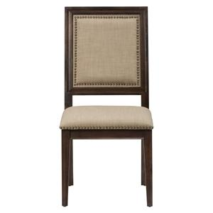 Jofran Geneva Hills Side Chair with Upholstered Back and Seat