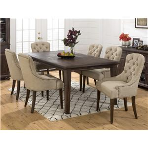 Jofran Geneva Hills Large Table and Upholstered Chair Set