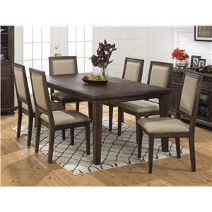 Jofran Geneva Hills Large Table and Side Chair Set