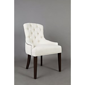 Upholstered Side Chair with Tufted Back