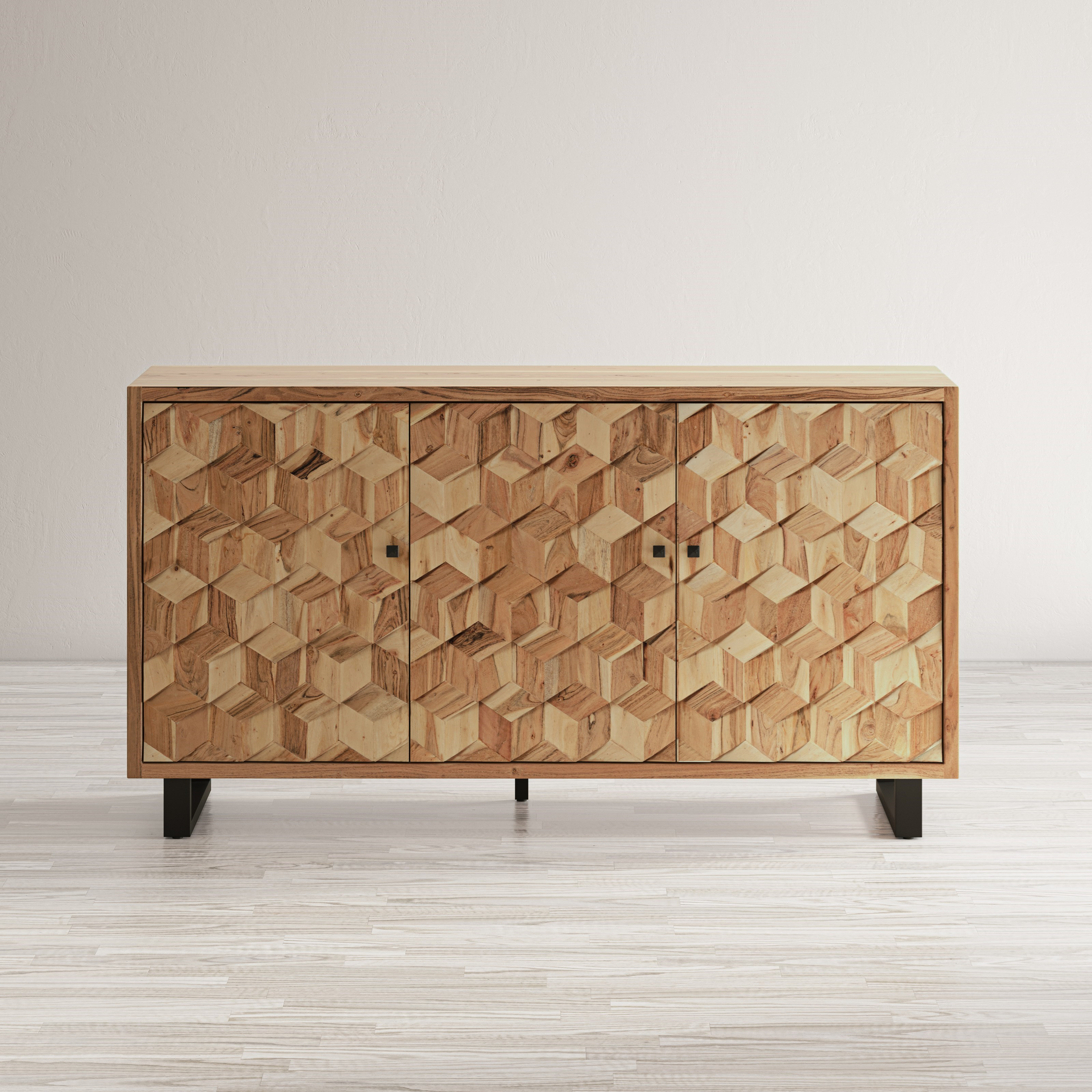 Geometrix 3-Door Accent Cabinet by Jofran at Jofran