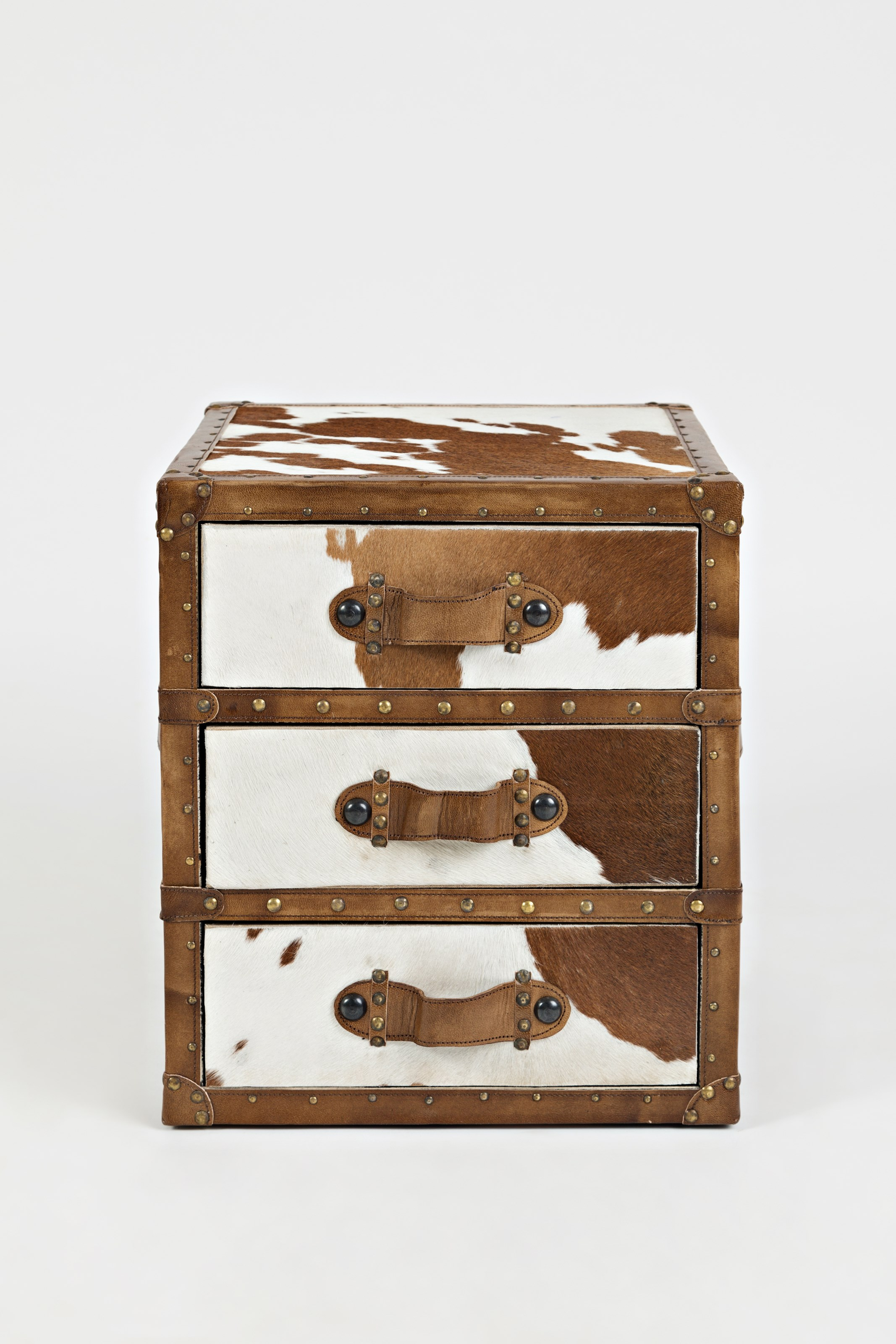 Global Archive Hair-on-Hide Accent Chest by Jofran at Lucas Furniture & Mattress