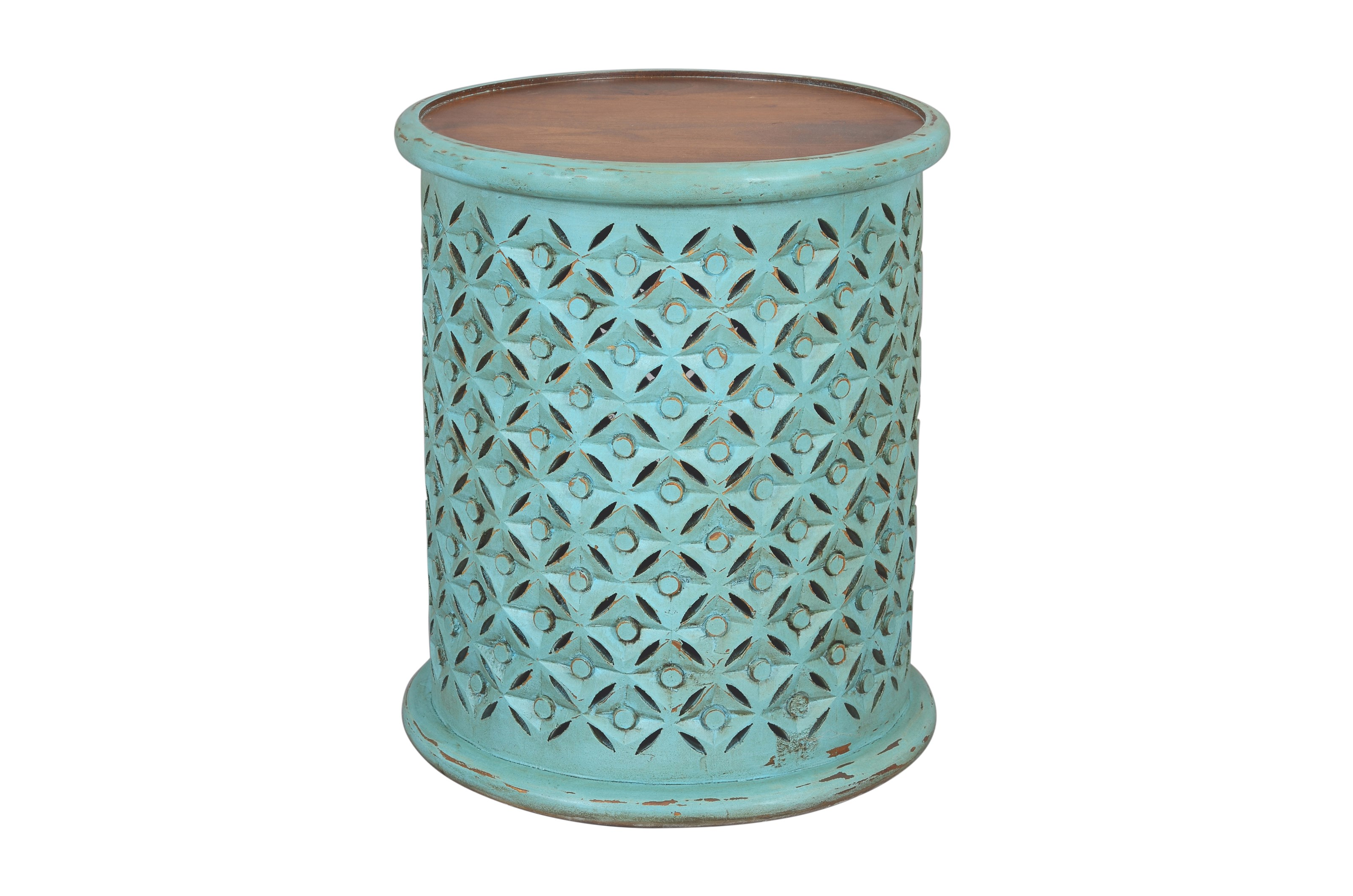 Global Archive Decker Small Drum Table by Jofran at Jofran