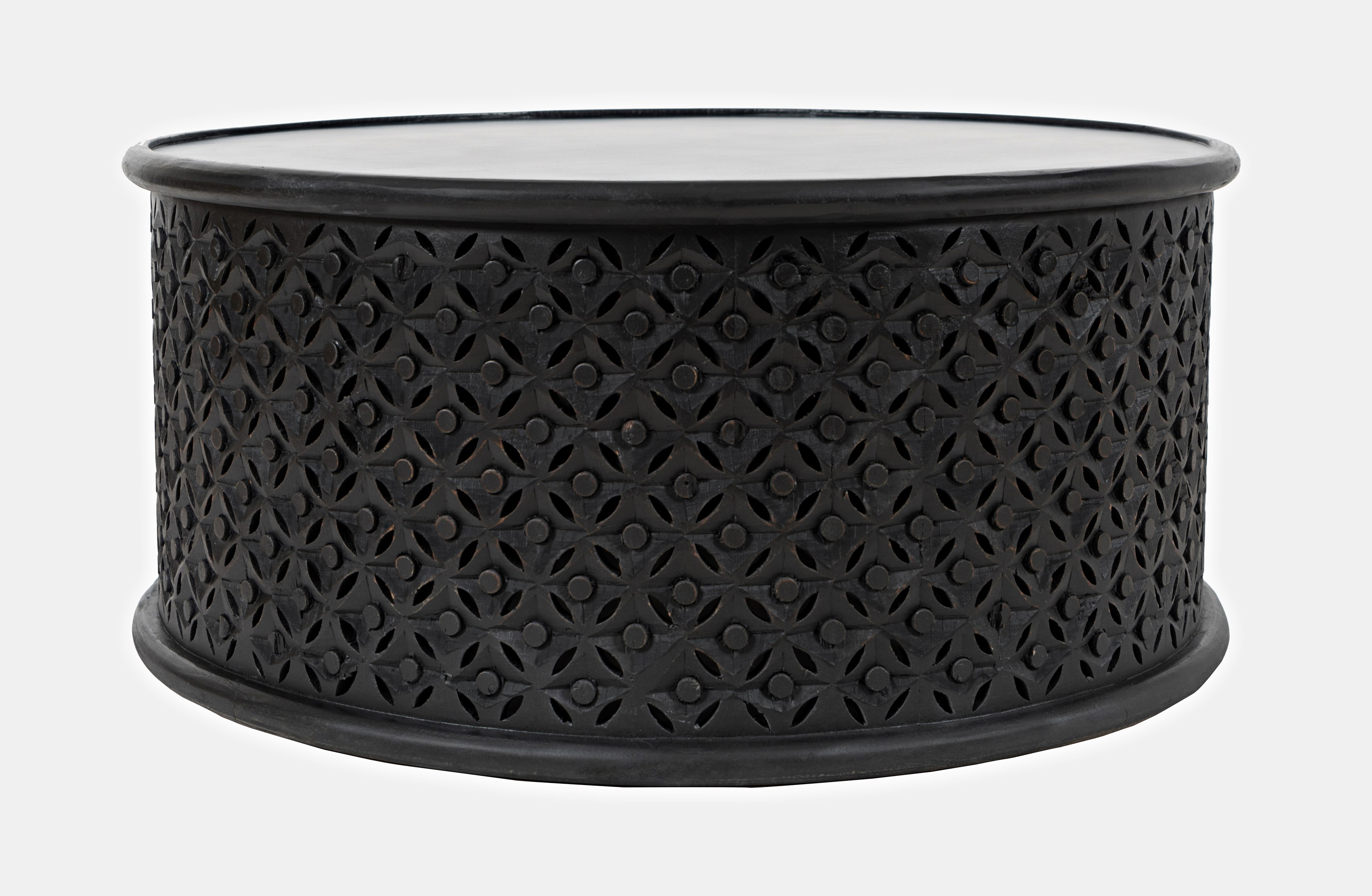 Global Archive Decker Drum Coffee Table by Jofran at Darvin Furniture
