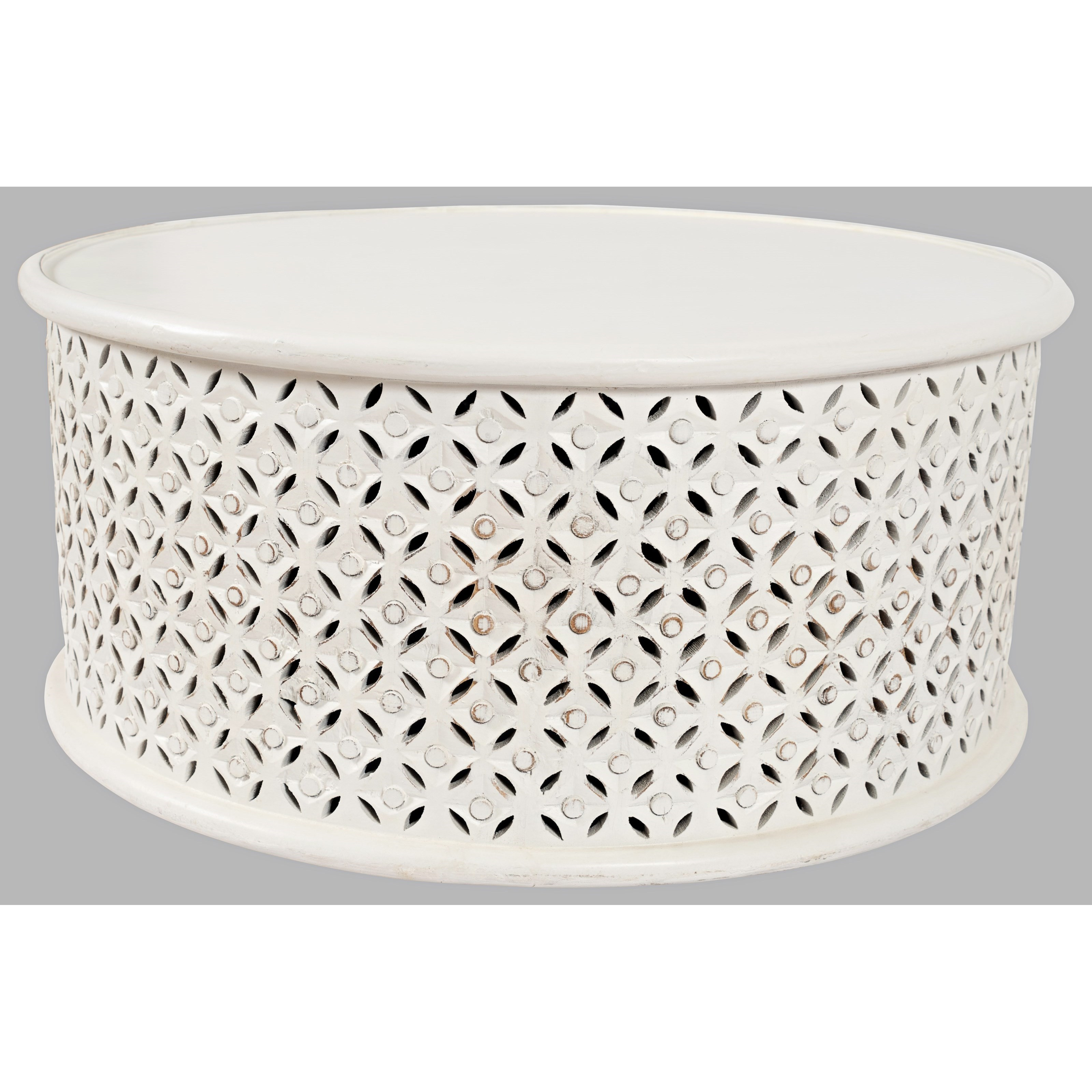 Global Archive Decker Drum Coffee Table by Jofran at Beck's Furniture