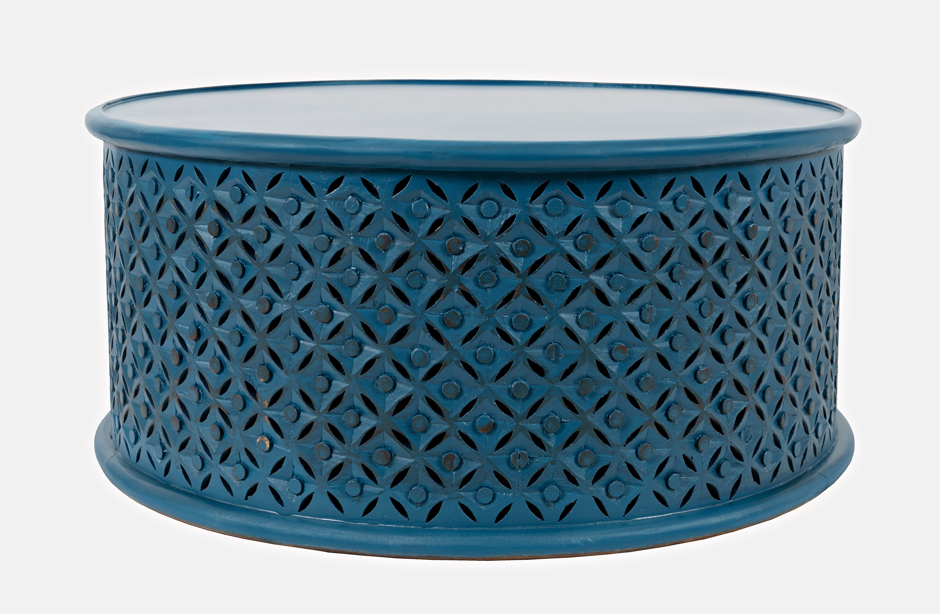 Global Archive Decker Drum Coffee Table by Jofran at Sparks HomeStore