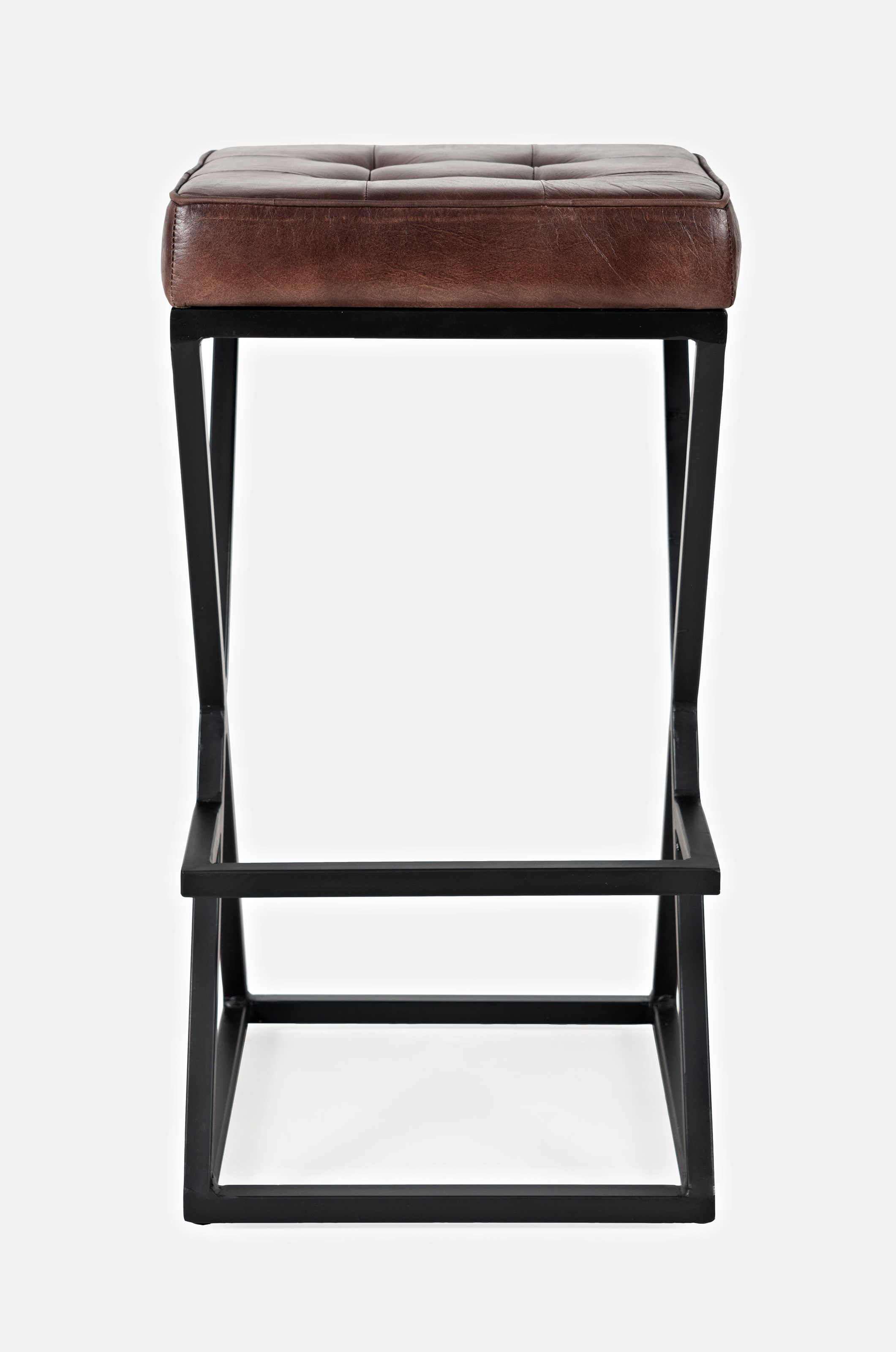 Global Archive Leather Stool by Jofran at Gill Brothers Furniture