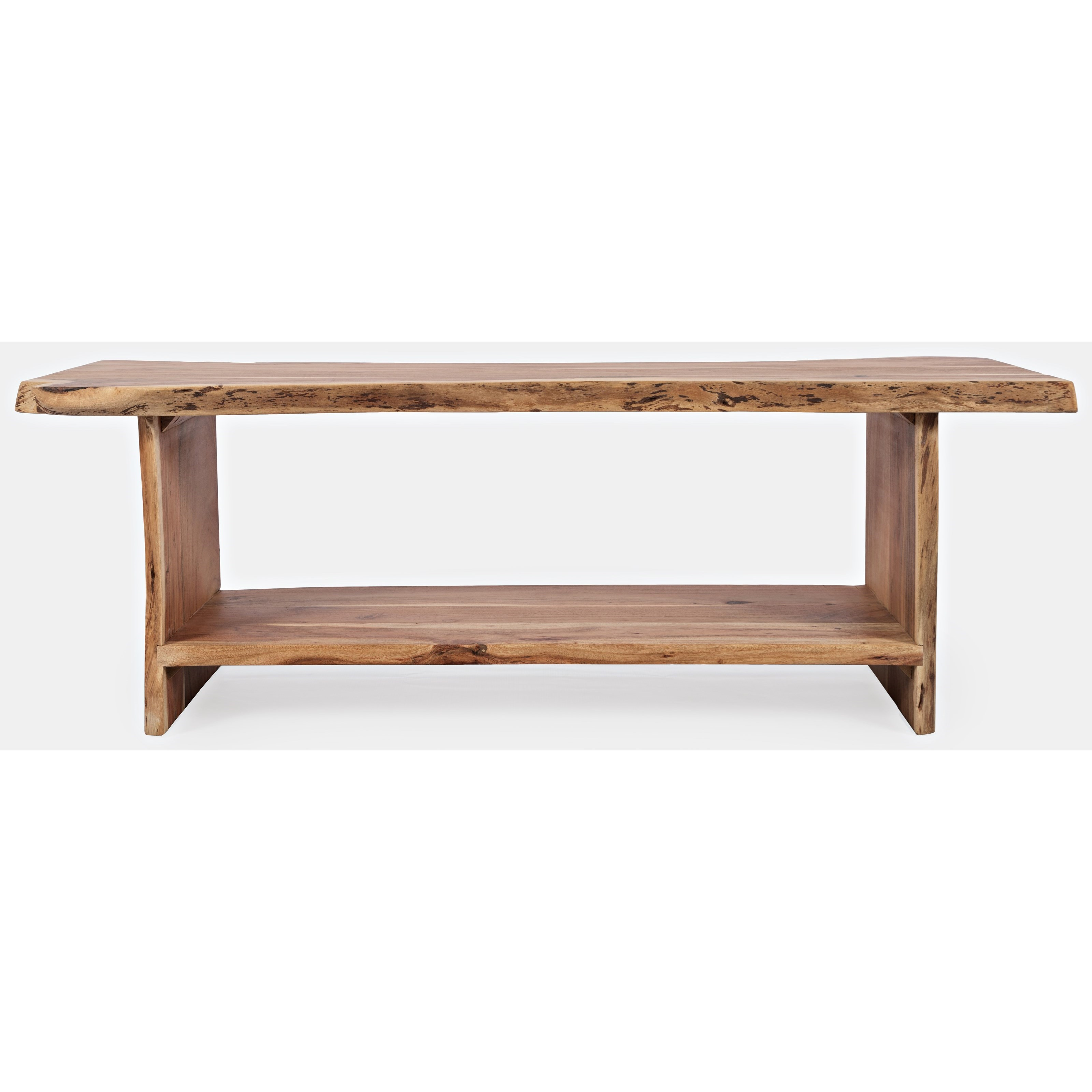 Global Archive Cooper Live Edge Storage Bench by Jofran at Jofran