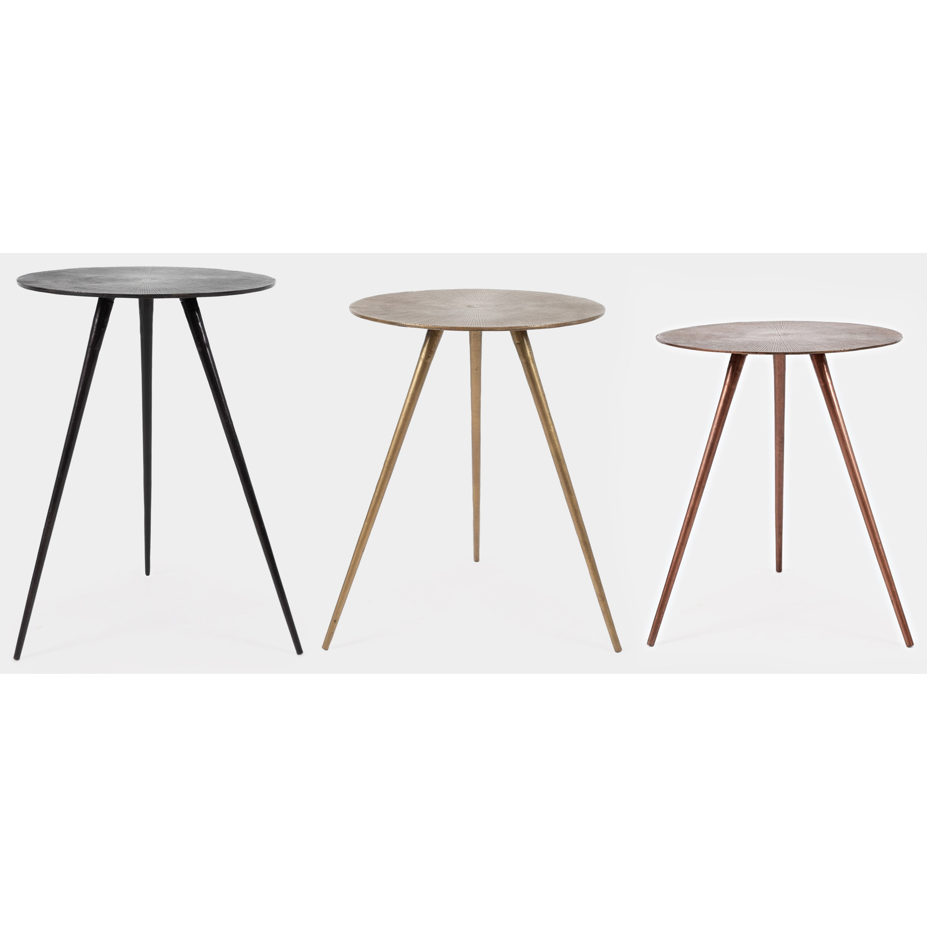 Global Archive Carly Accent Tables - 3 Piece Set by Jofran at Stoney Creek Furniture