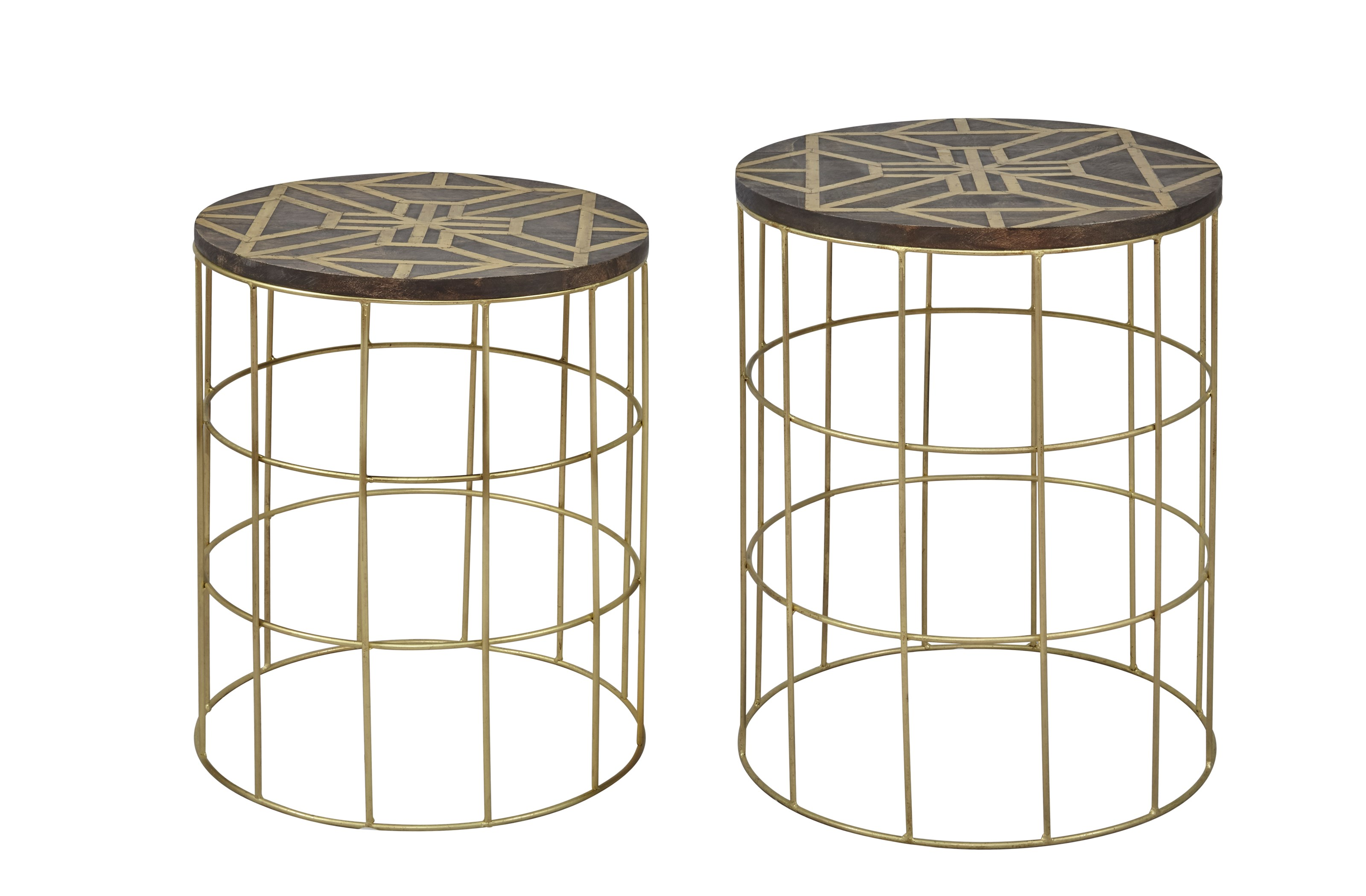 Global Archive Set of 2 Accent Tables by Jofran at HomeWorld Furniture