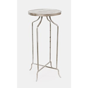 Jamison Round Marble Accent Table