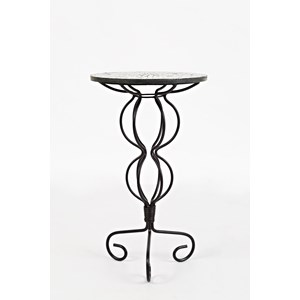 Iron Pedestal Table with Mosiac Top