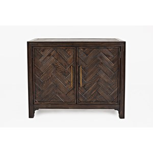 Dark Chevron 2 Door Accent Cabinet