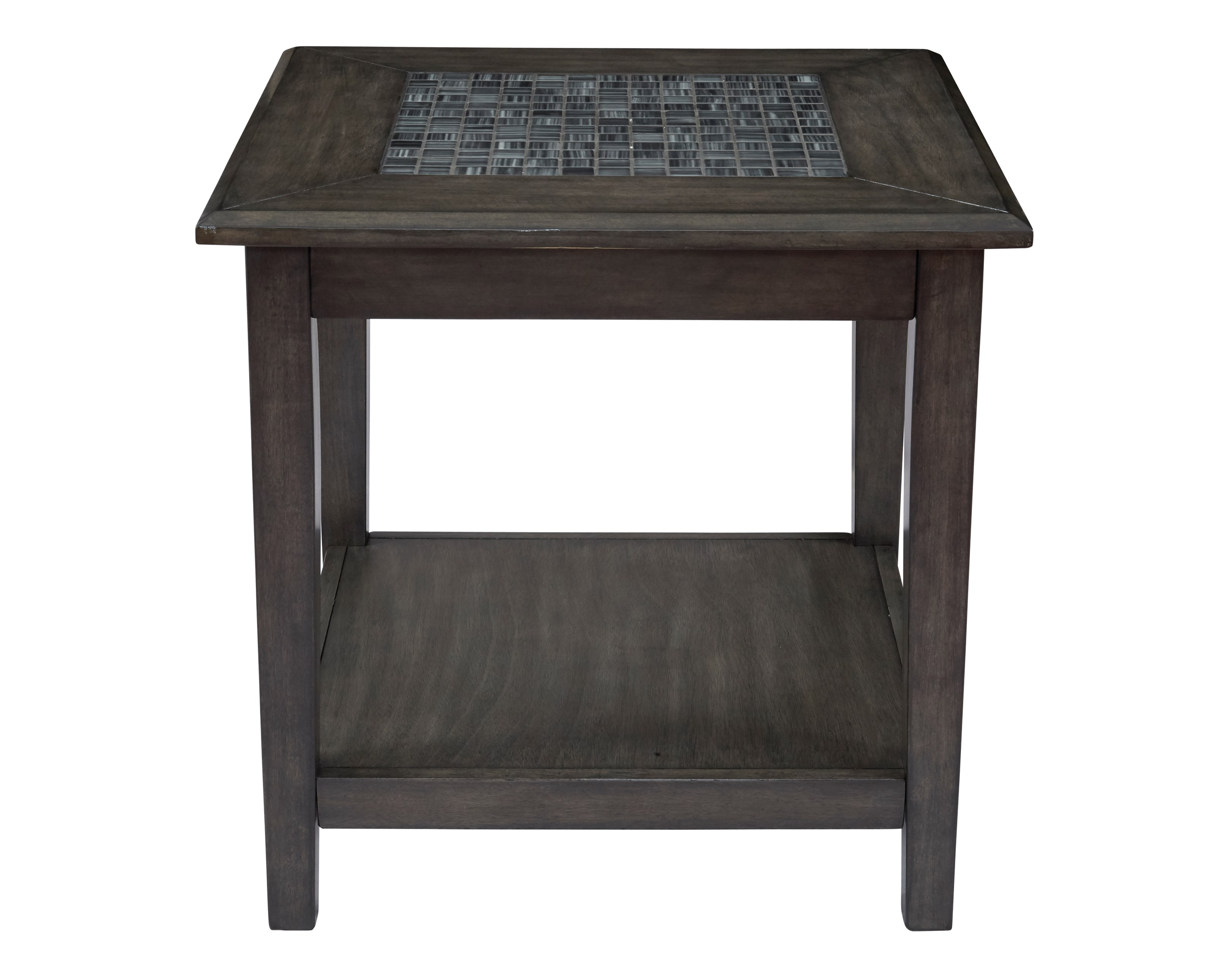 Grey Mosaic End Table by Jofran at Jofran