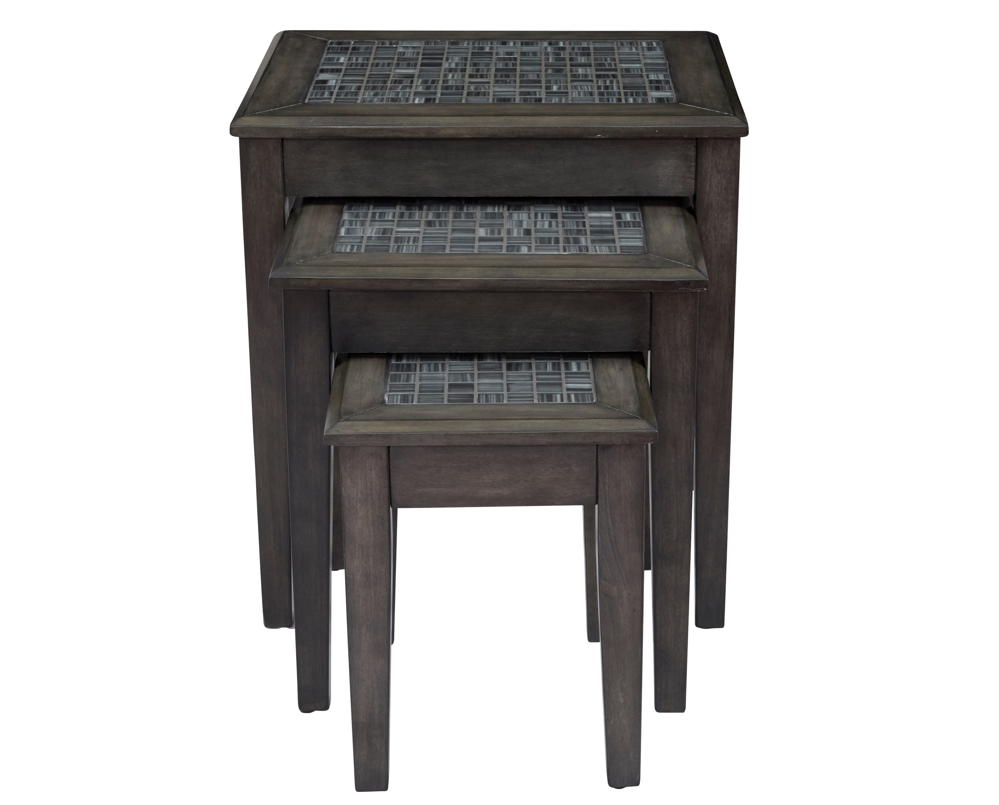 Grey Mosaic Nesting Tables - Set of 3 by Jofran at Furniture and ApplianceMart